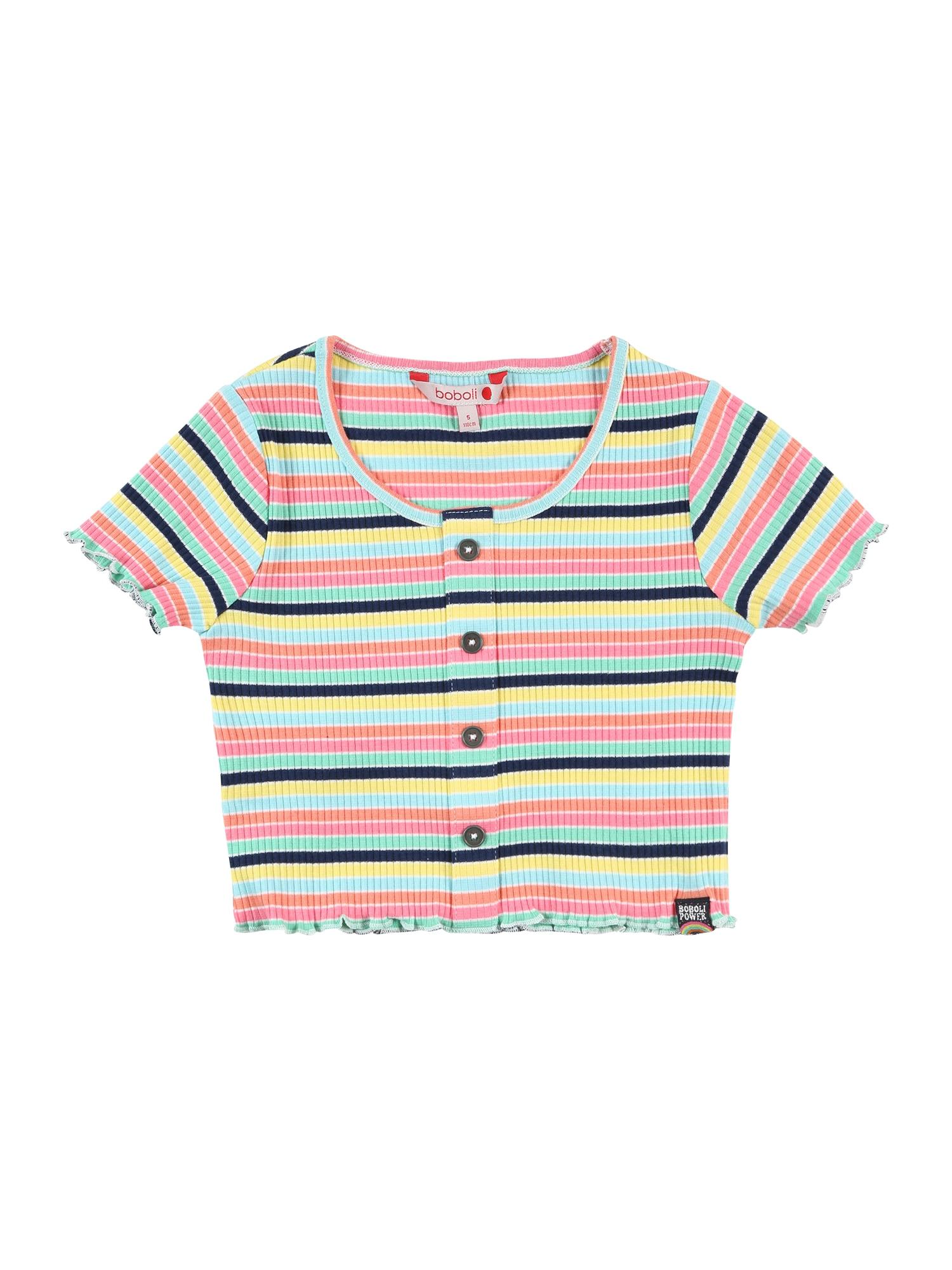 Boboli Marškinėliai tamsiai mėlyna / šviesiai mėlyna / rožinė / geltona / mėtų spalva