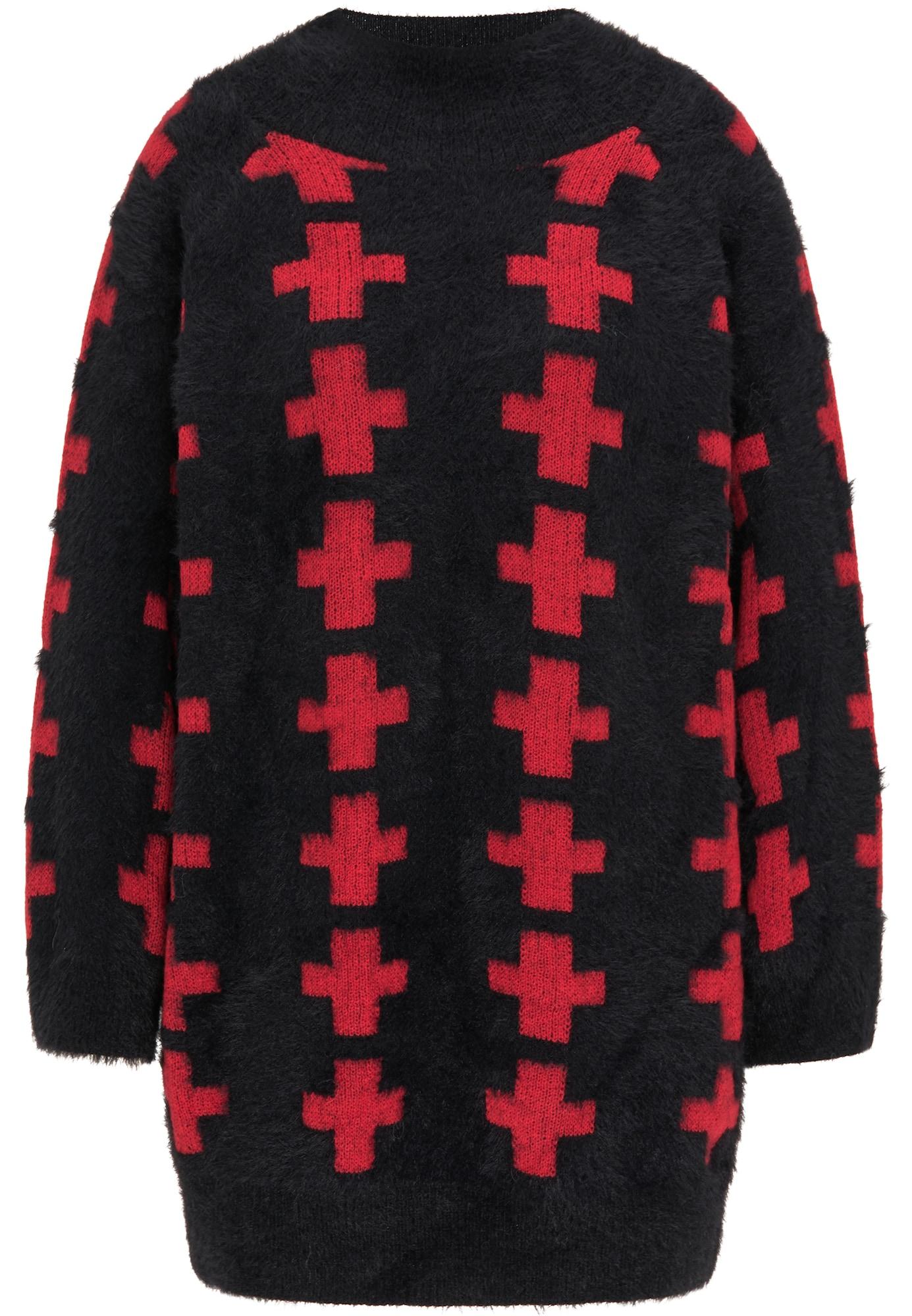myMo ROCKS Megztinis juoda / raudona