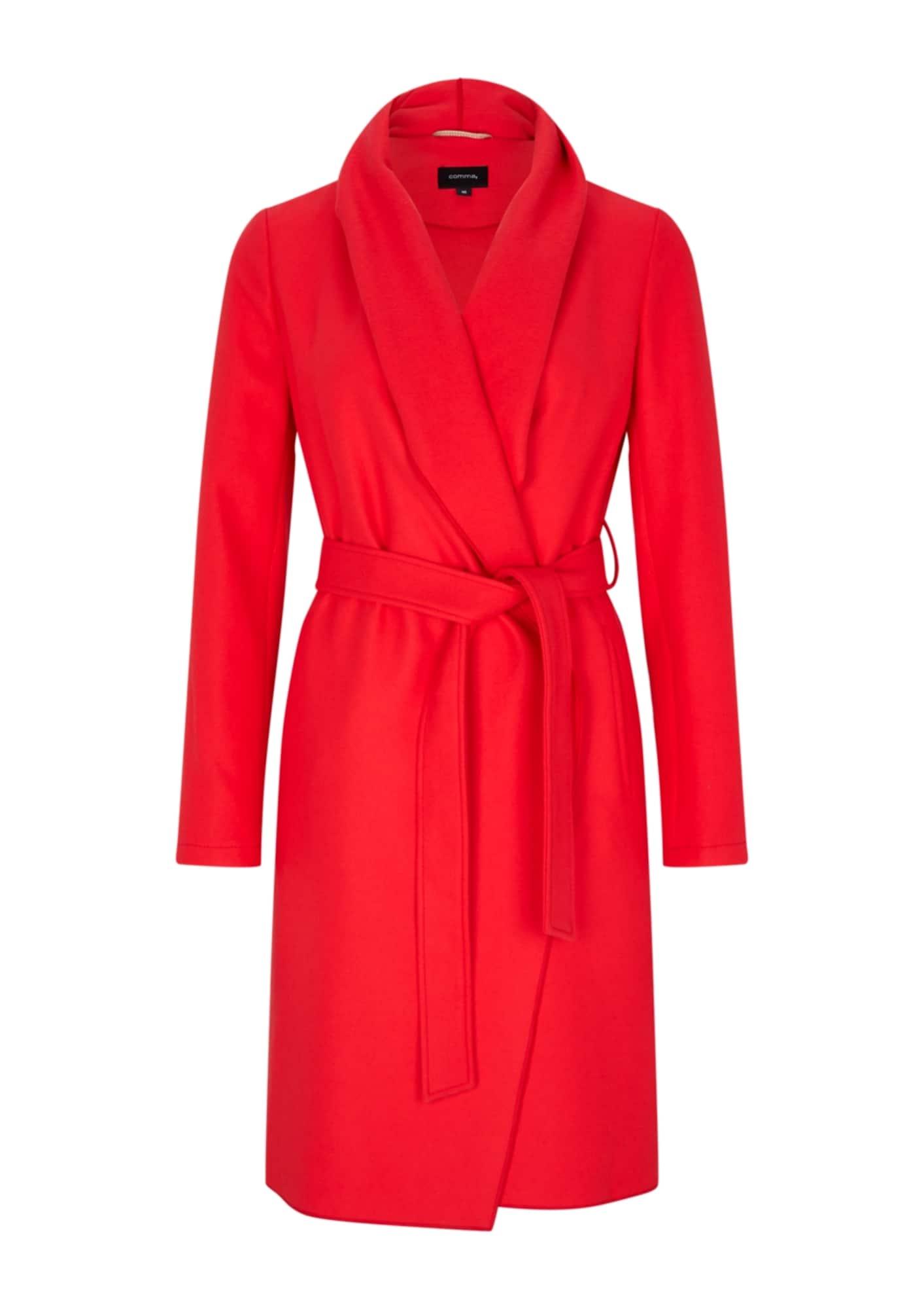 COMMA Rudeninis-žieminis paltas raudona