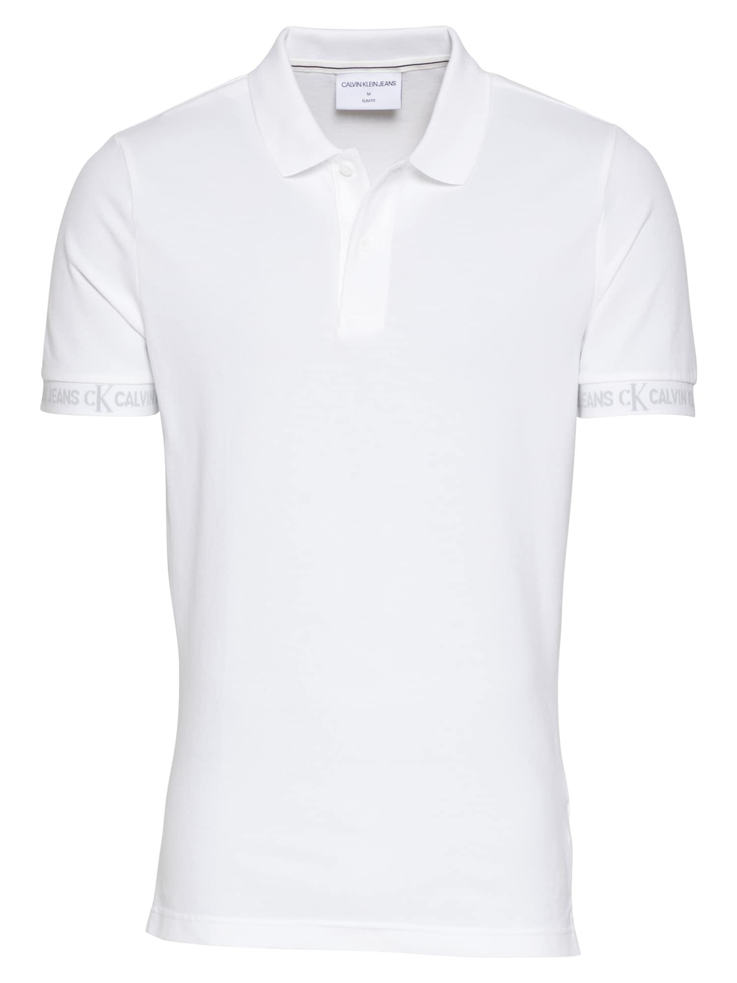 Calvin Klein Jeans Marškinėliai balkšva / pilka