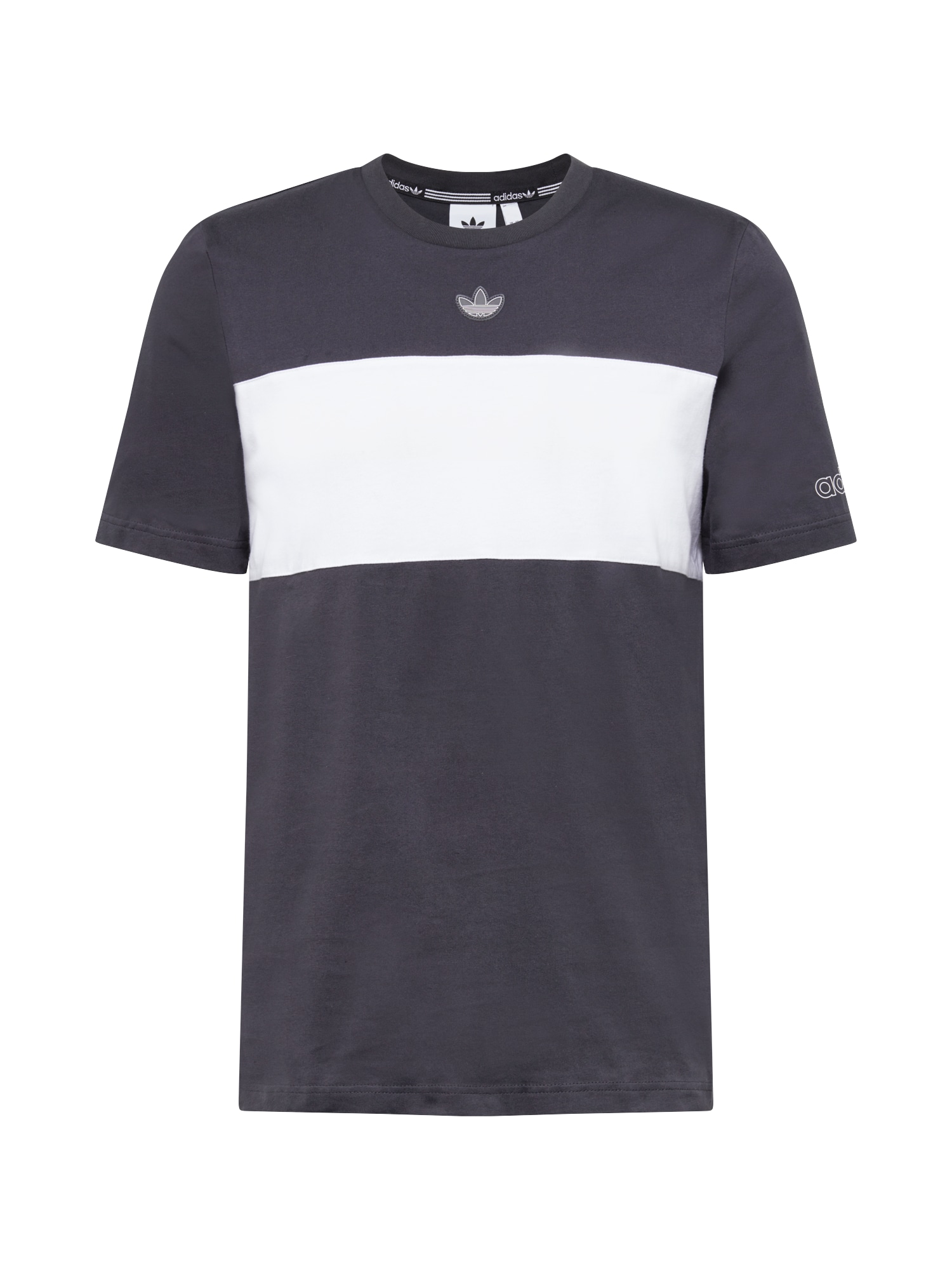 ADIDAS ORIGINALS Marškinėliai balta / tamsiai pilka