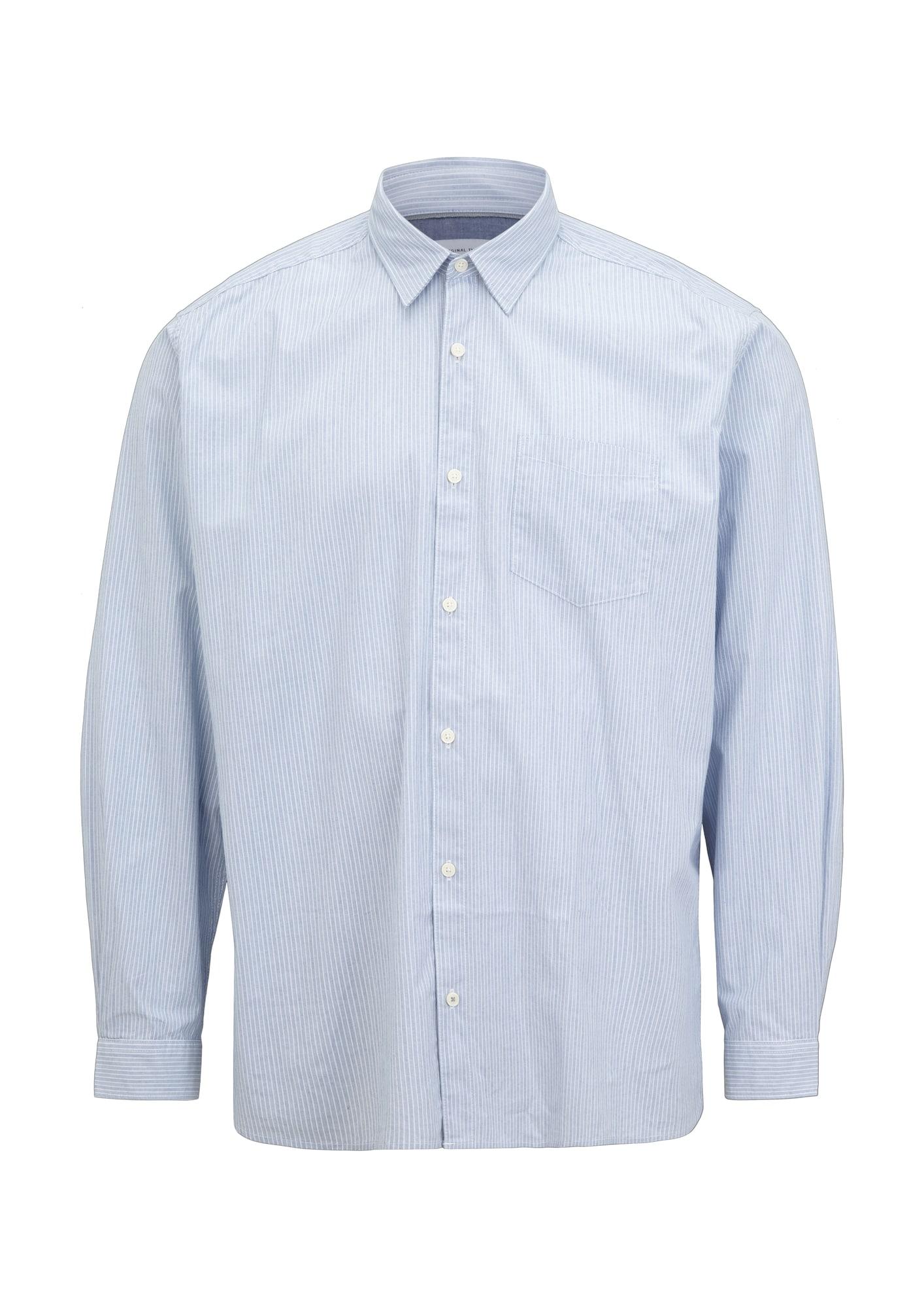 s.Oliver Red Label (Plus) Marškiniai šviesiai mėlyna / balta