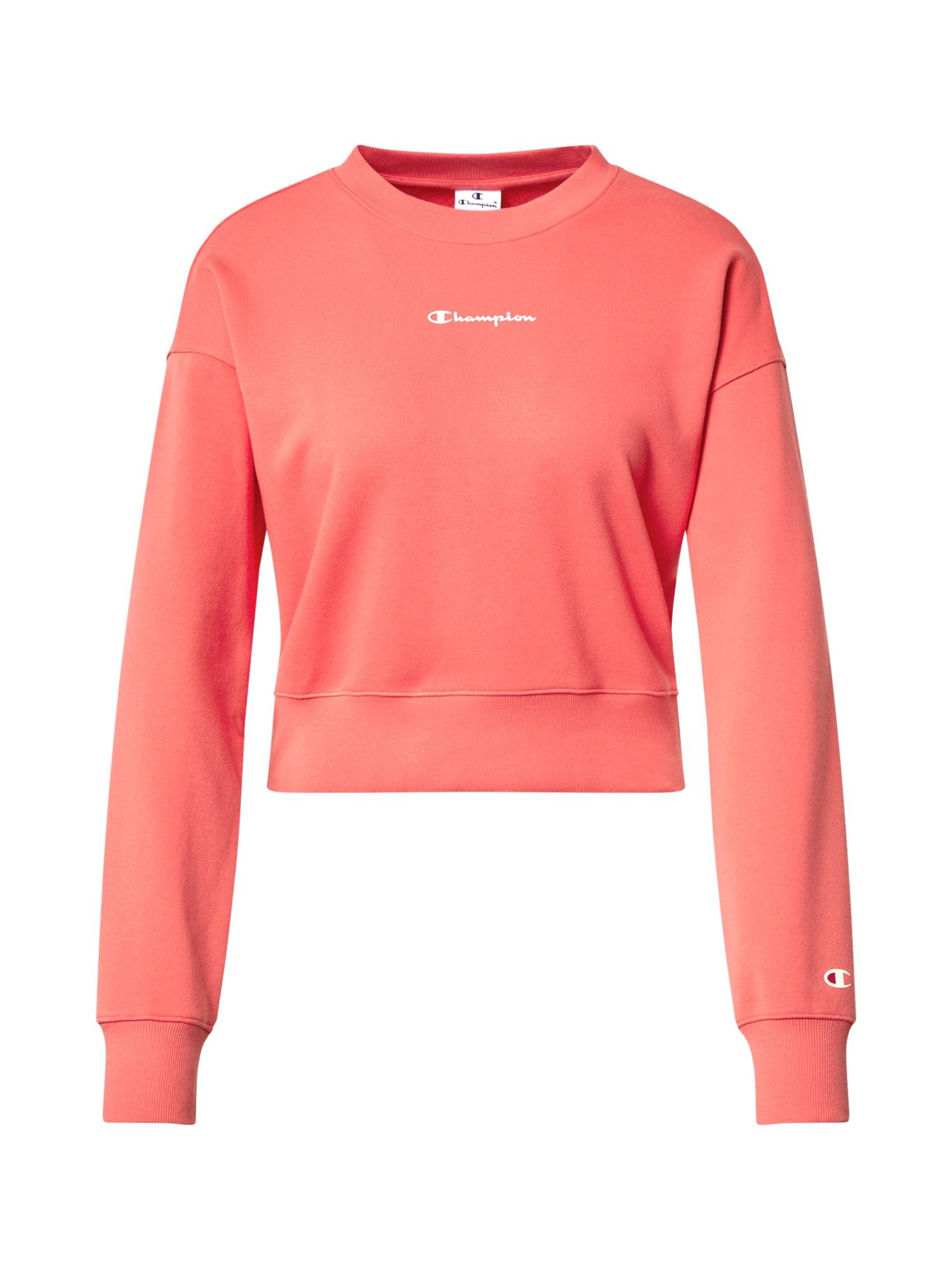 Champion Authentic Athletic Apparel Sportinio tipo megztinis rožių spalva / balta / raudona