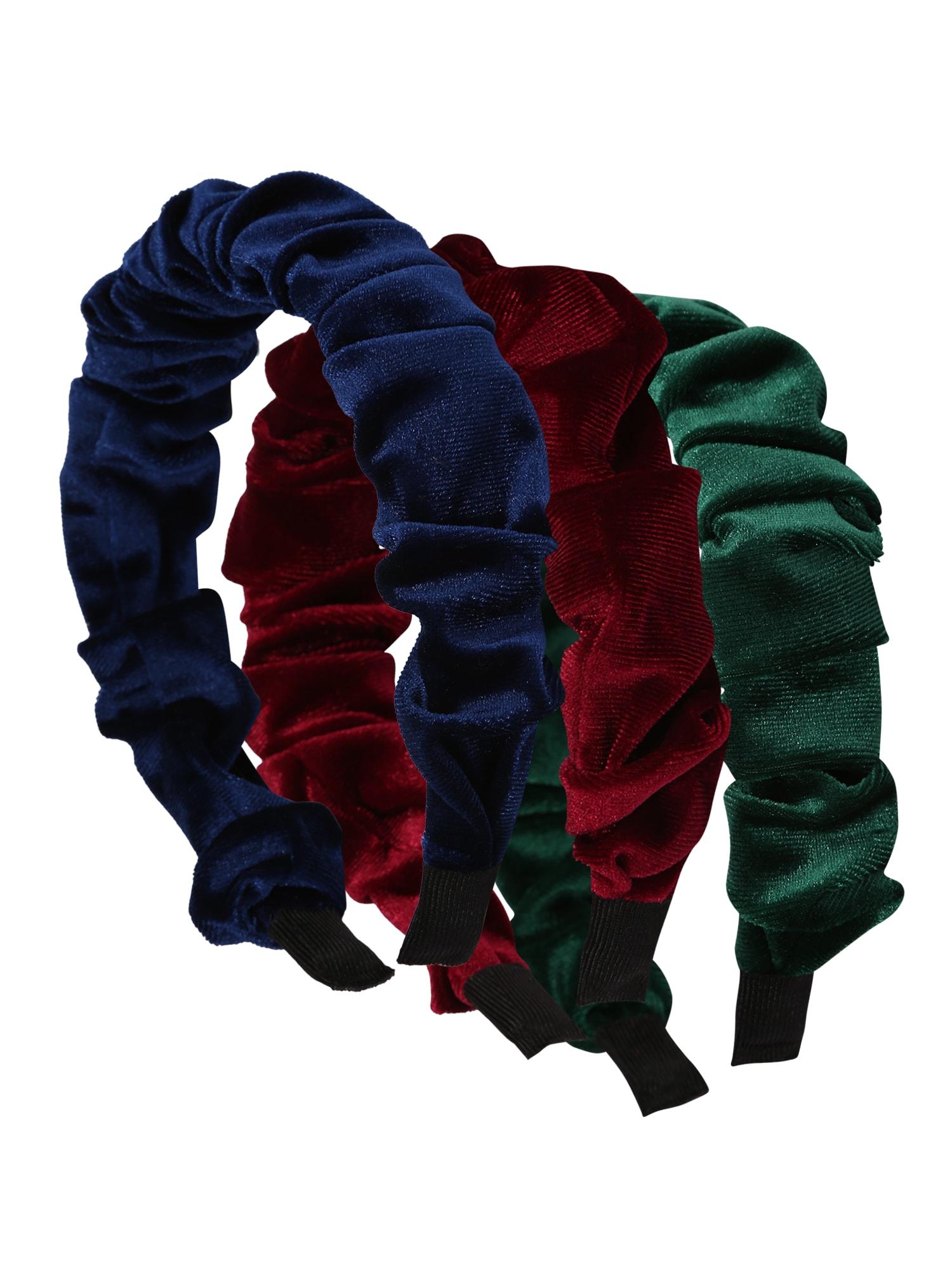 ABOUT YOU Plaukų papuošalas 'Tiana' tamsiai žalia / vyšninė spalva / tamsiai mėlyna