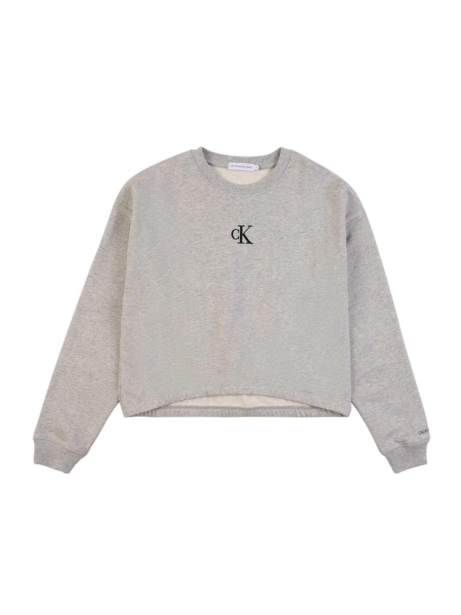Calvin Klein Jeans Megztinis be užsegimo juoda / margai pilka