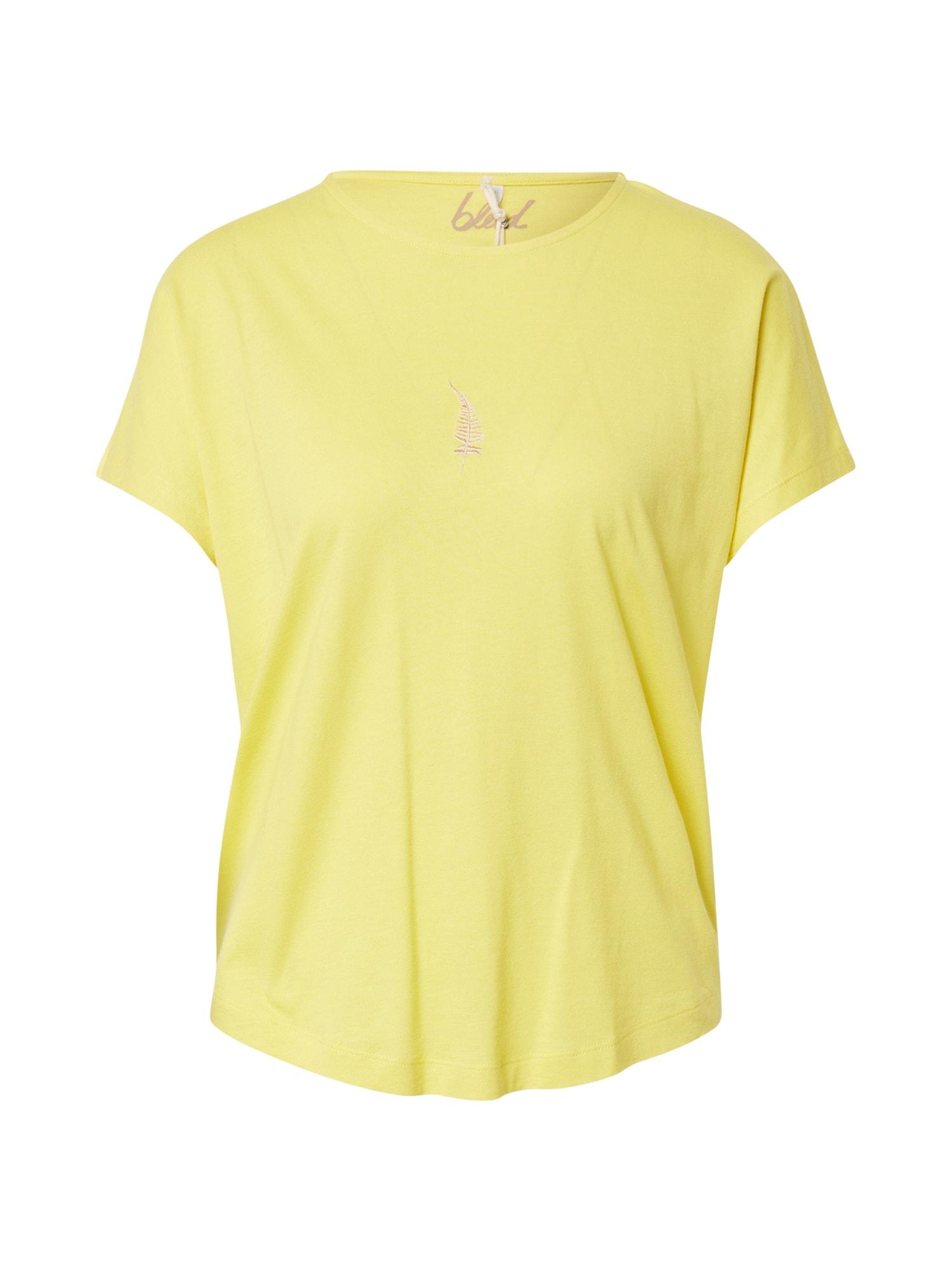 bleed clothing Marškinėliai geltona / pastelinė violetinė