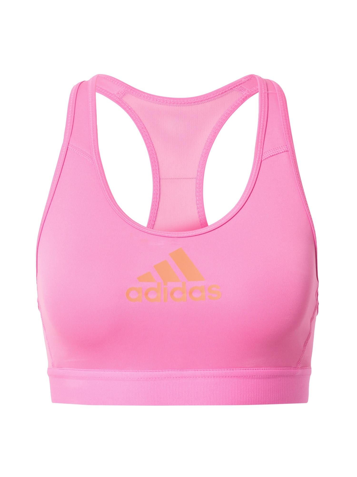 ADIDAS PERFORMANCE Sportovní podprsenka  pink / oranžová