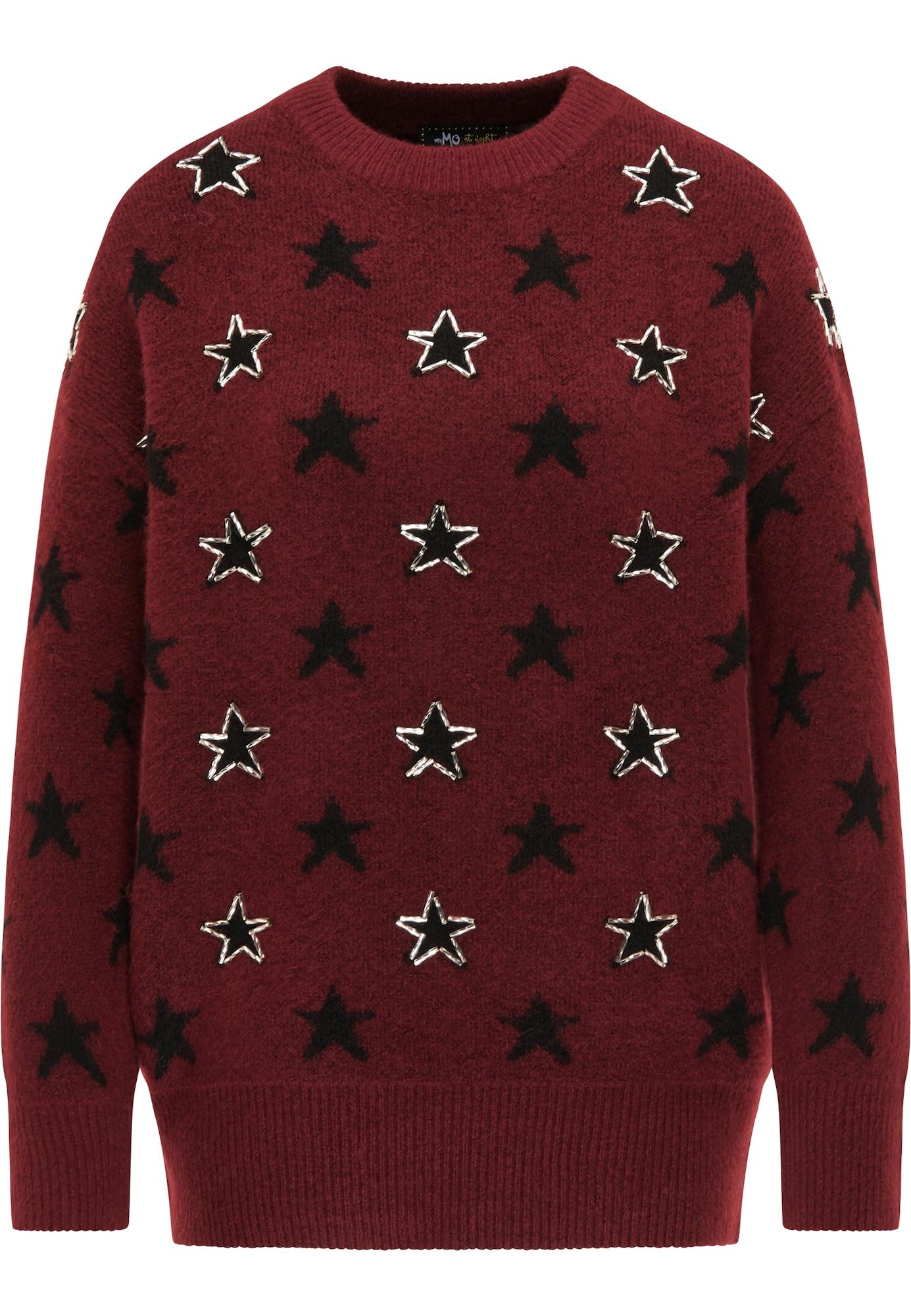myMo at night Megztinis tamsiai raudona / juoda