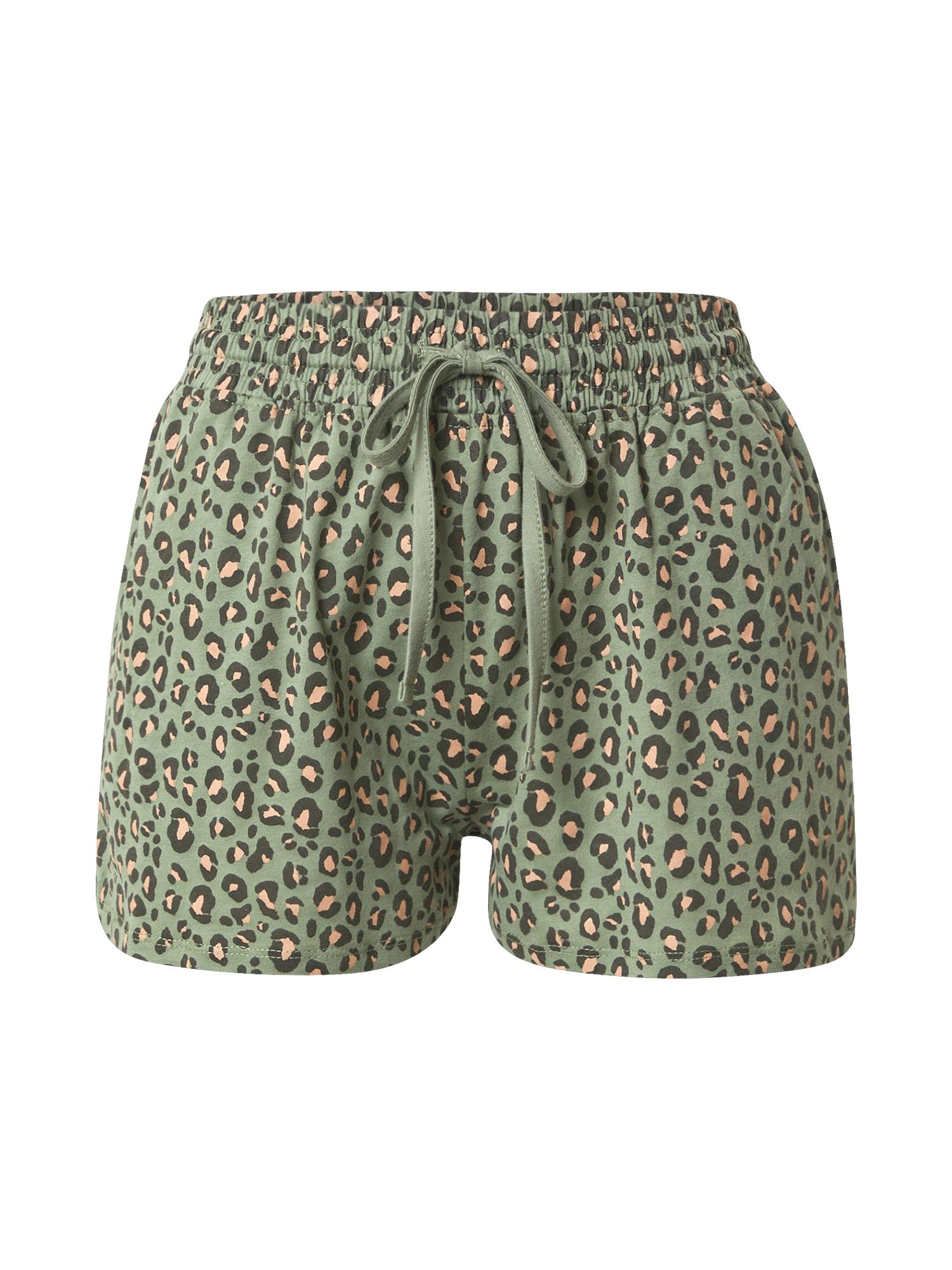 Cotton On Pižaminės kelnės žalia / lašišų spalva / įdegio spalva