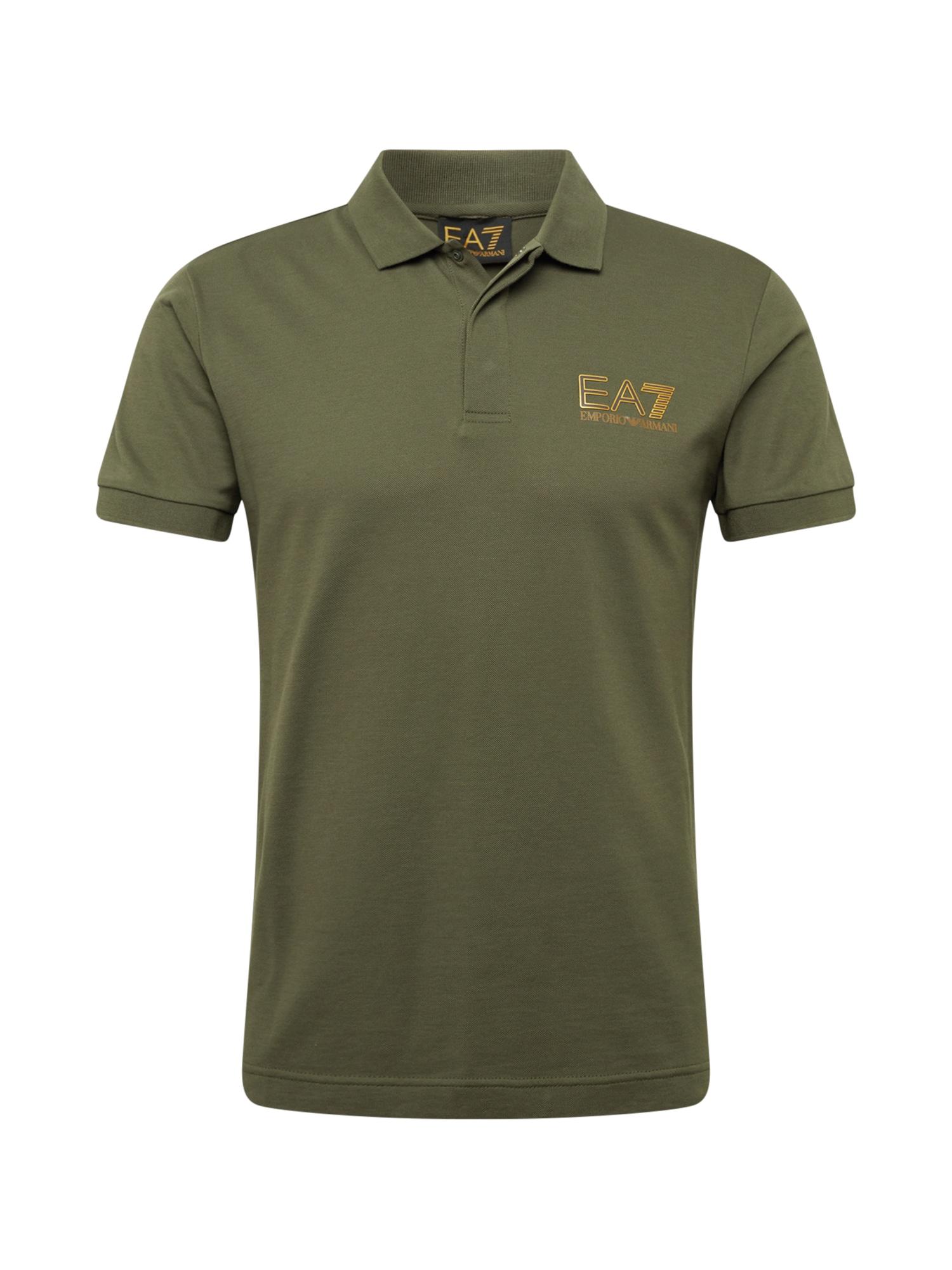 EA7 Emporio Armani Marškinėliai žalia / auksas