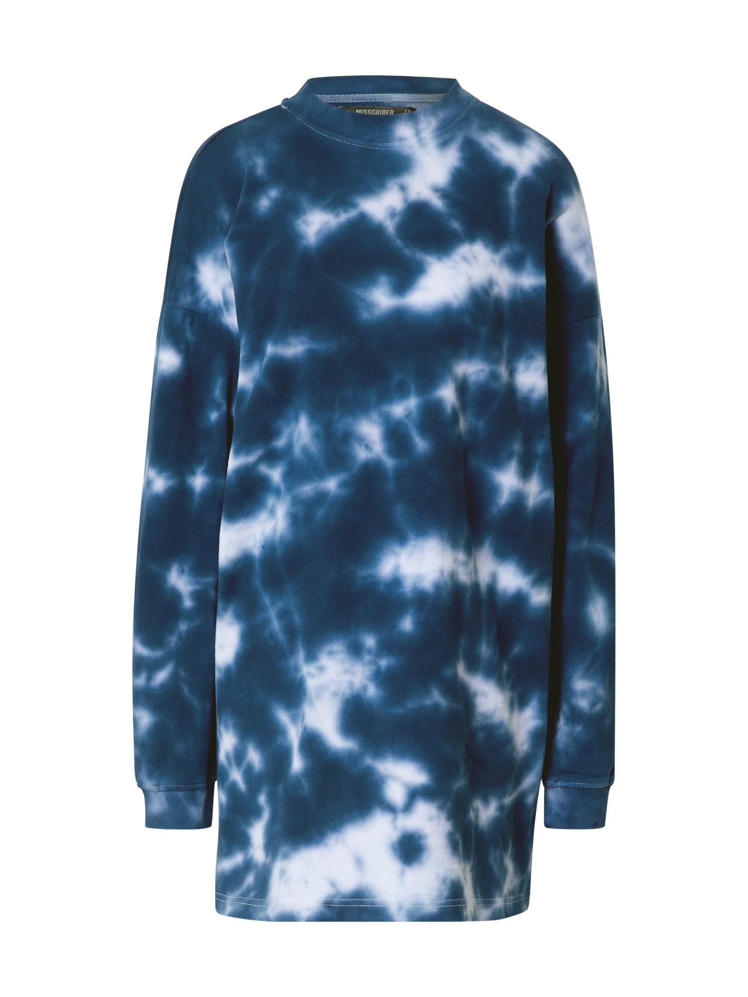 Missguided Laisva suknelė tamsiai mėlyna / balta