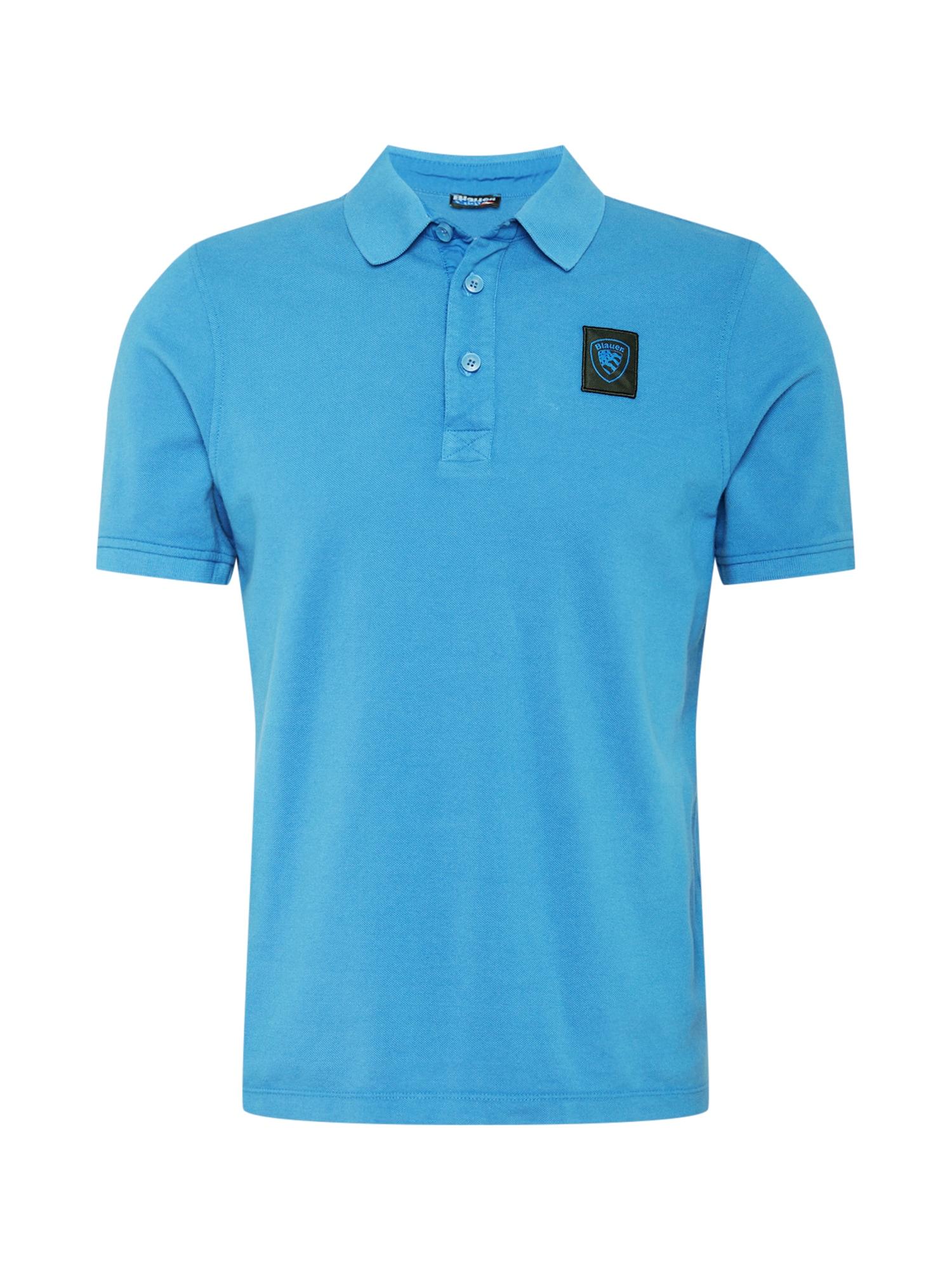 Blauer.USA Marškinėliai šviesiai mėlyna / juoda