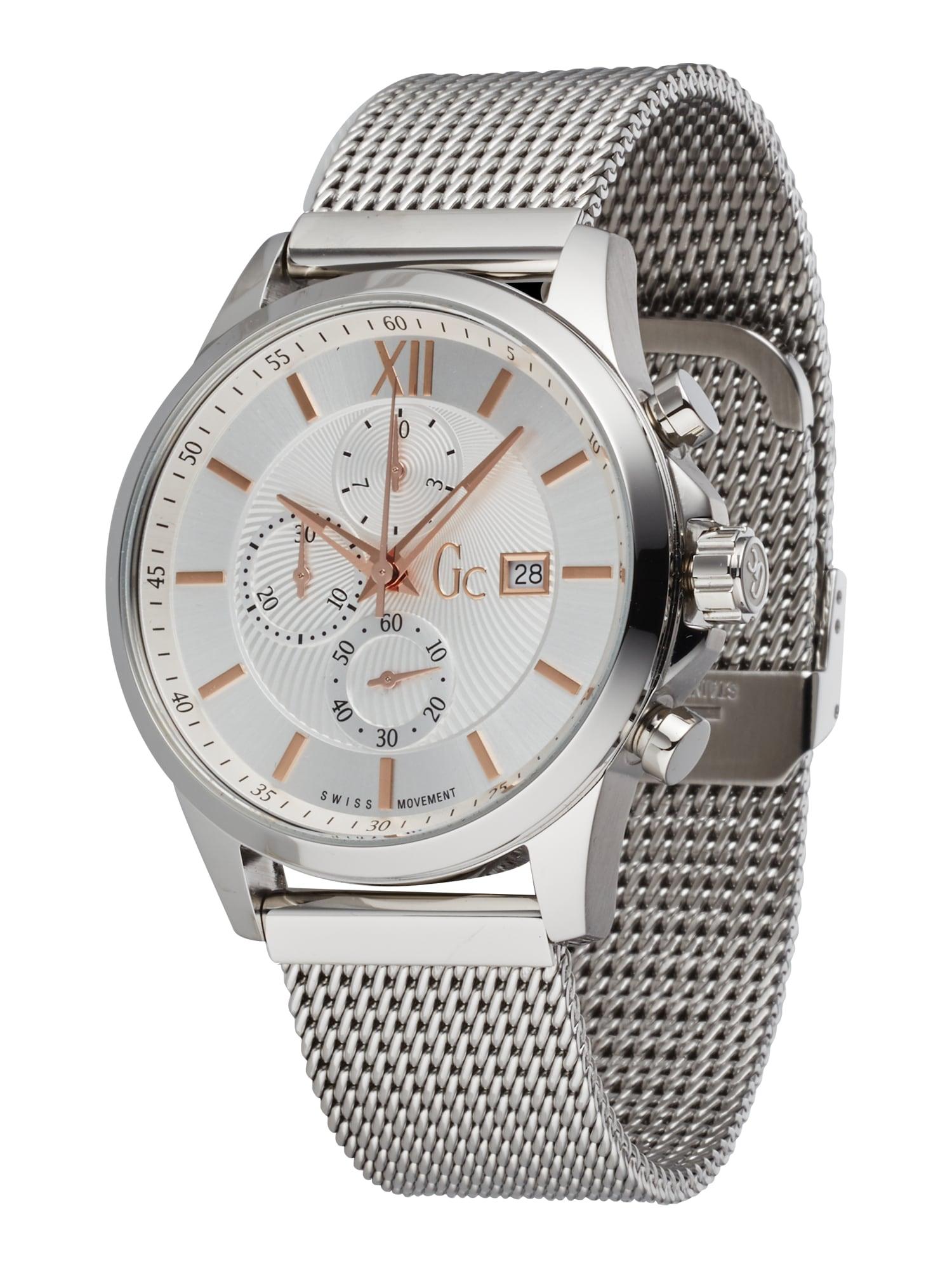 Gc Analoginis (įprasto dizaino) laikrodis sidabrinė / balta