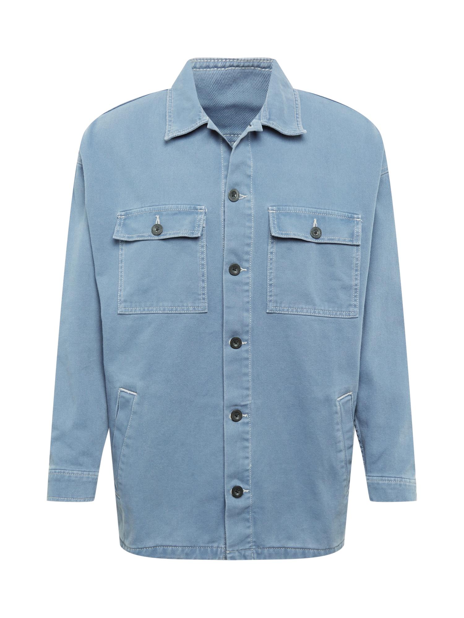 Dr. Denim Marškiniai mėlyna dūmų spalva