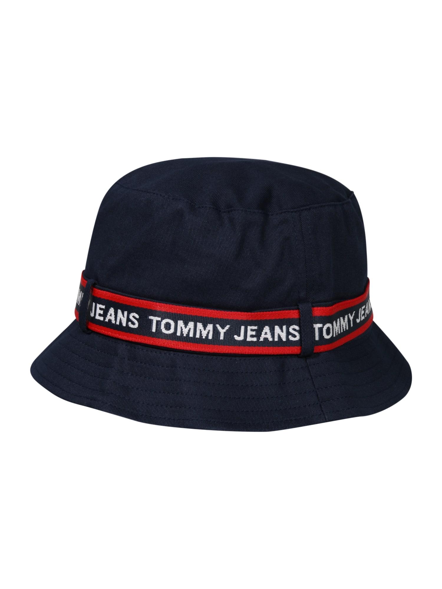 Tommy Jeans Skrybėlaitė raudona / nakties mėlyna