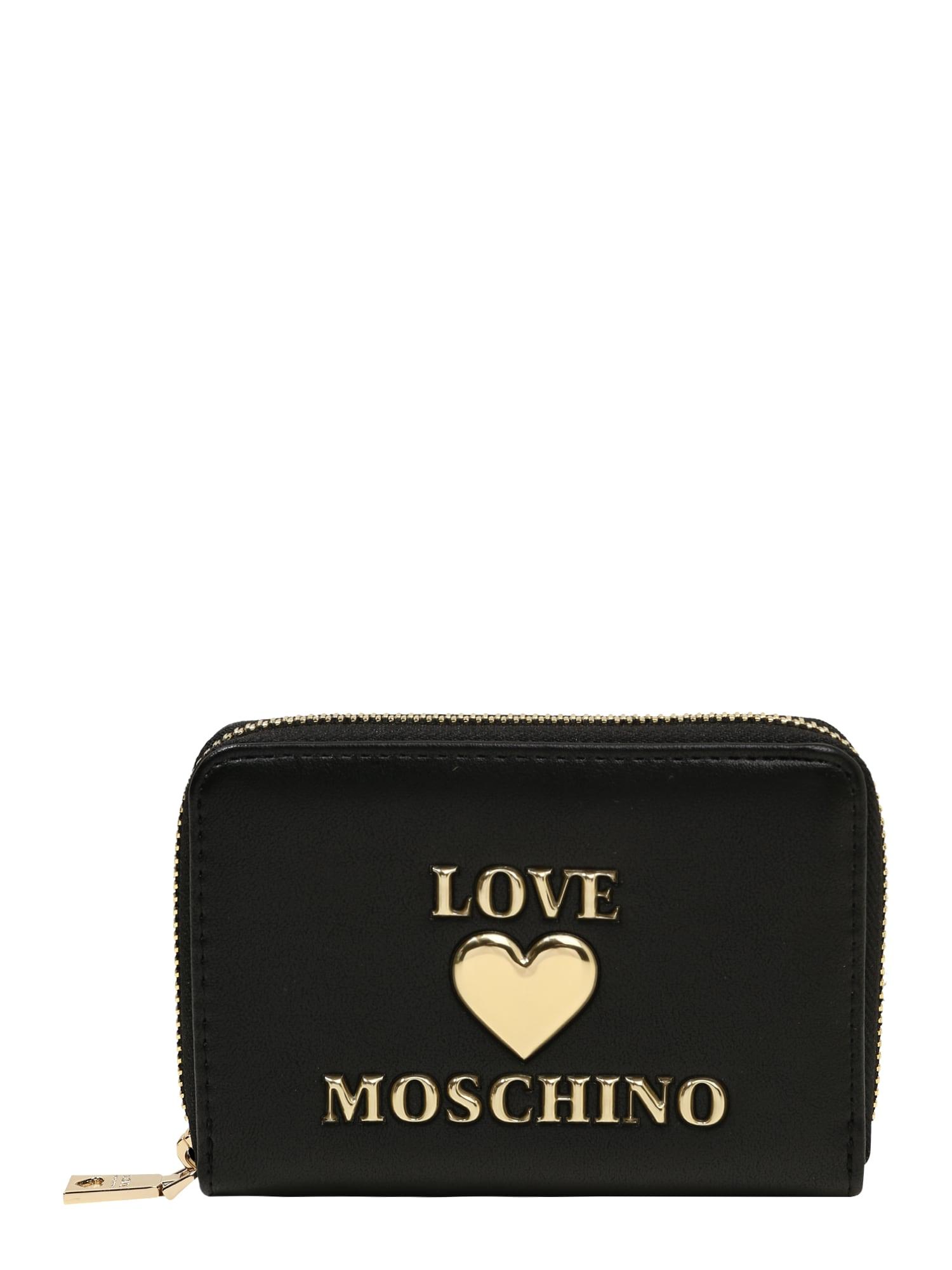 Love Moschino Piniginė juoda / auksas