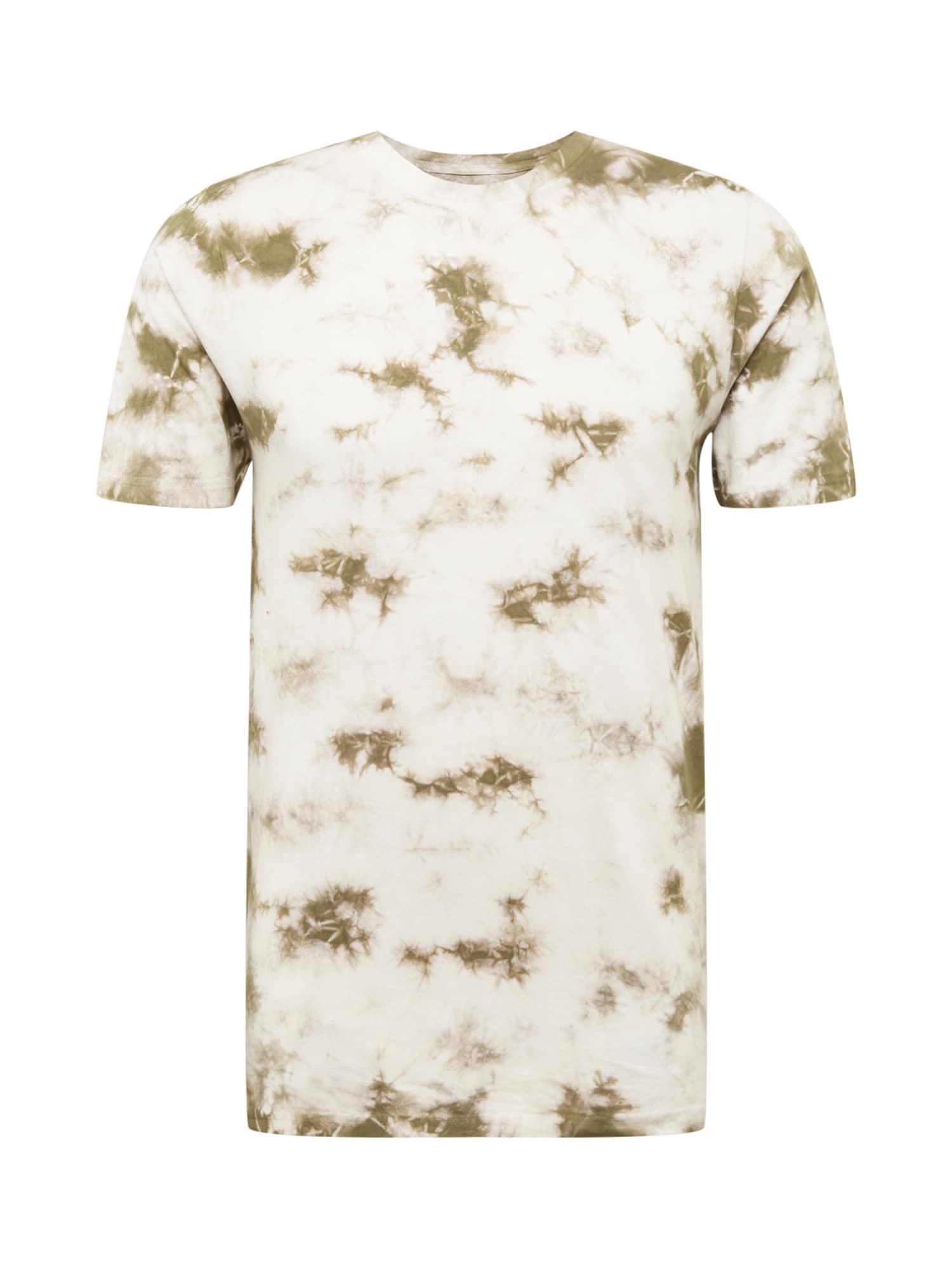 SHINE ORIGINAL Marškinėliai rusvai žalia / balta