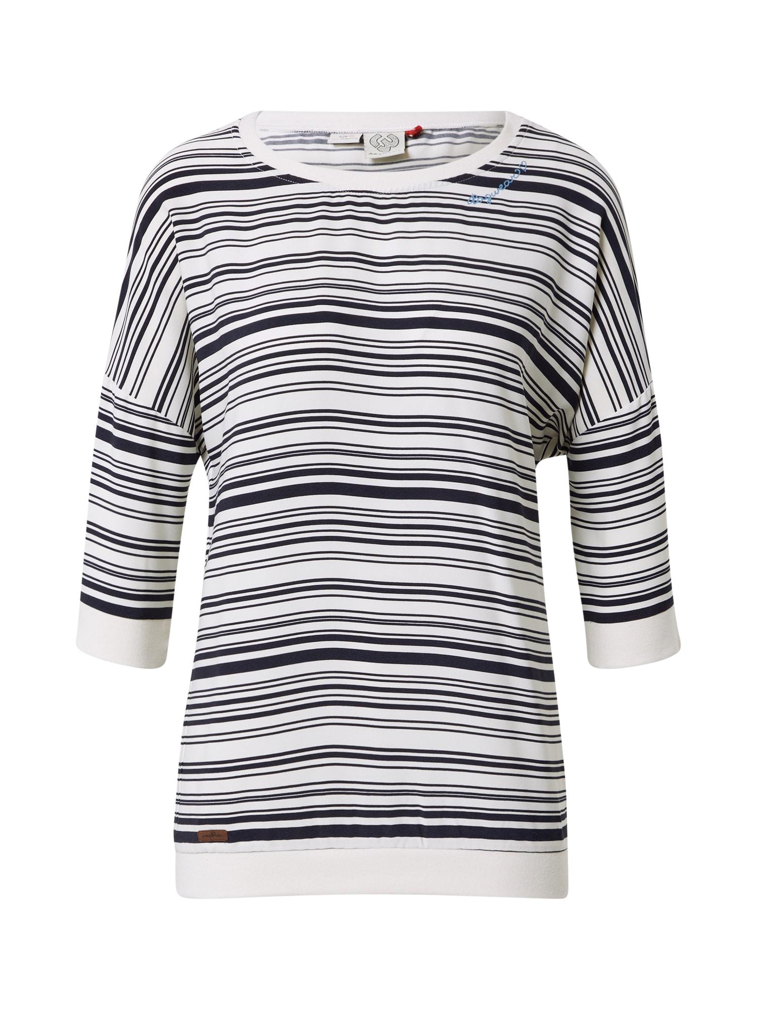 Ragwear Marškinėliai balta / juoda