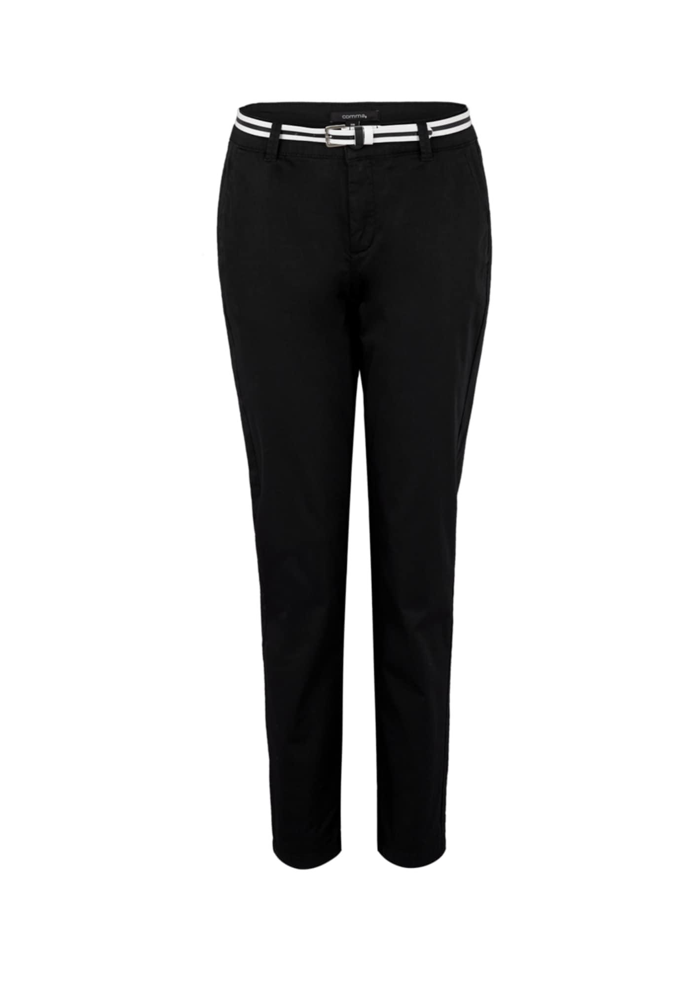 COMMA Chino stiliaus kelnės juoda