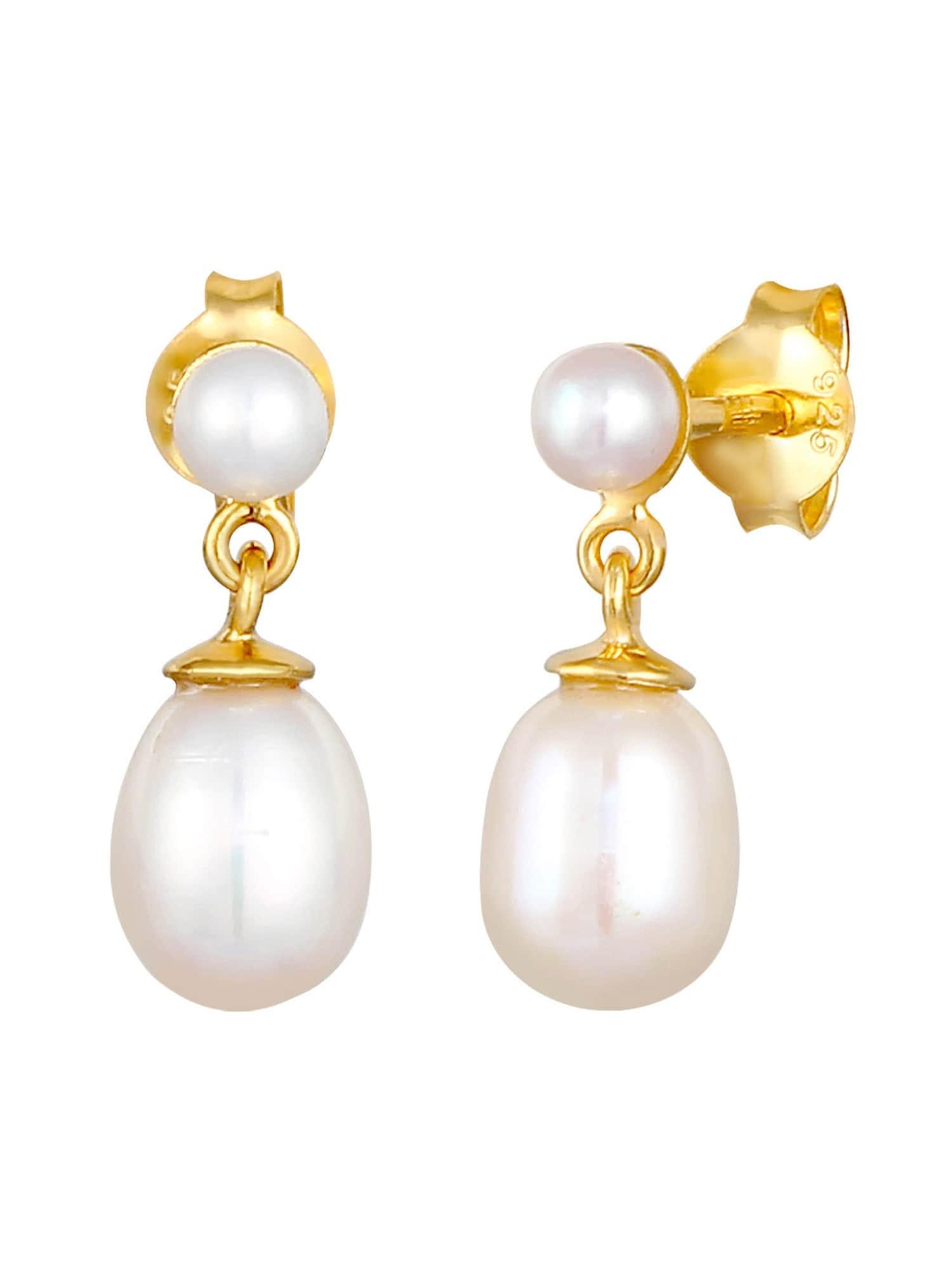 ELLI PREMIUM Auskarai perlų balta / auksas
