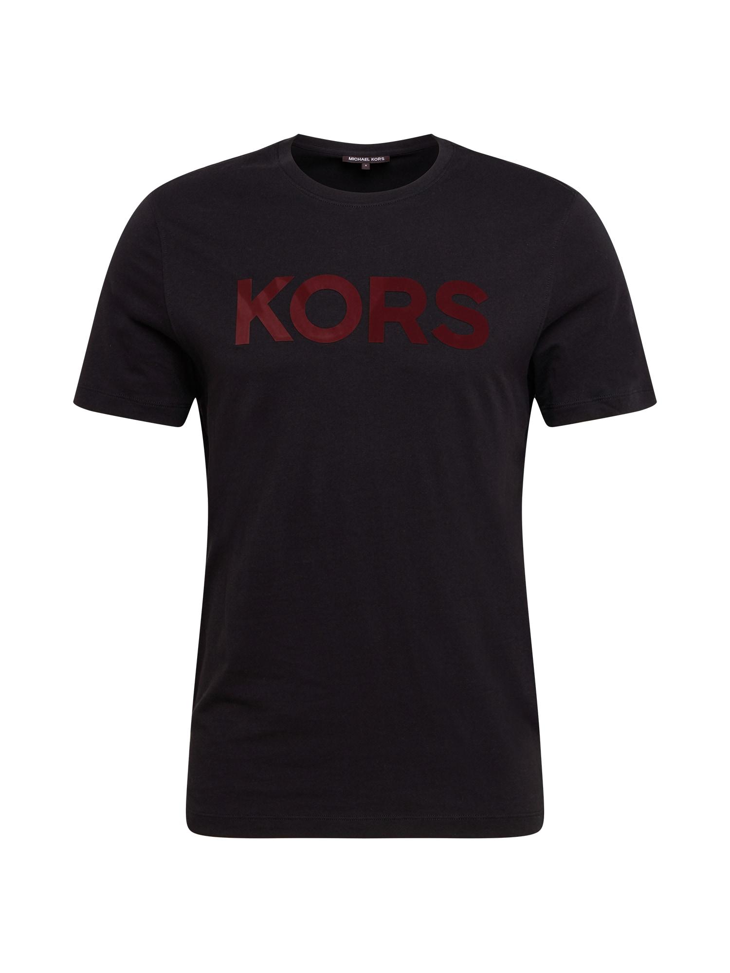 Michael Kors Marškinėliai juoda / raudona