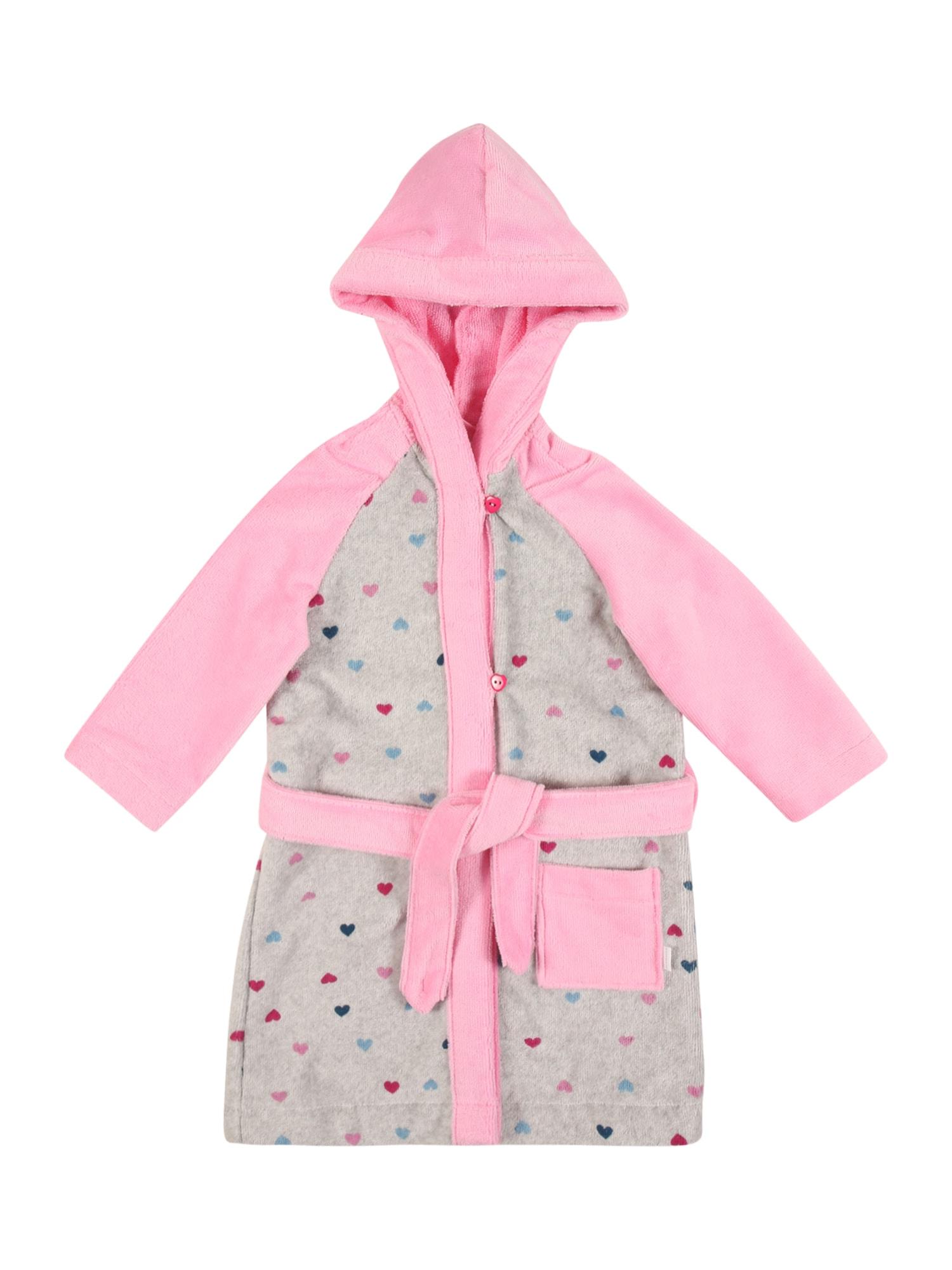 SCHIESSER Koupací plášť  růžová / šedý melír