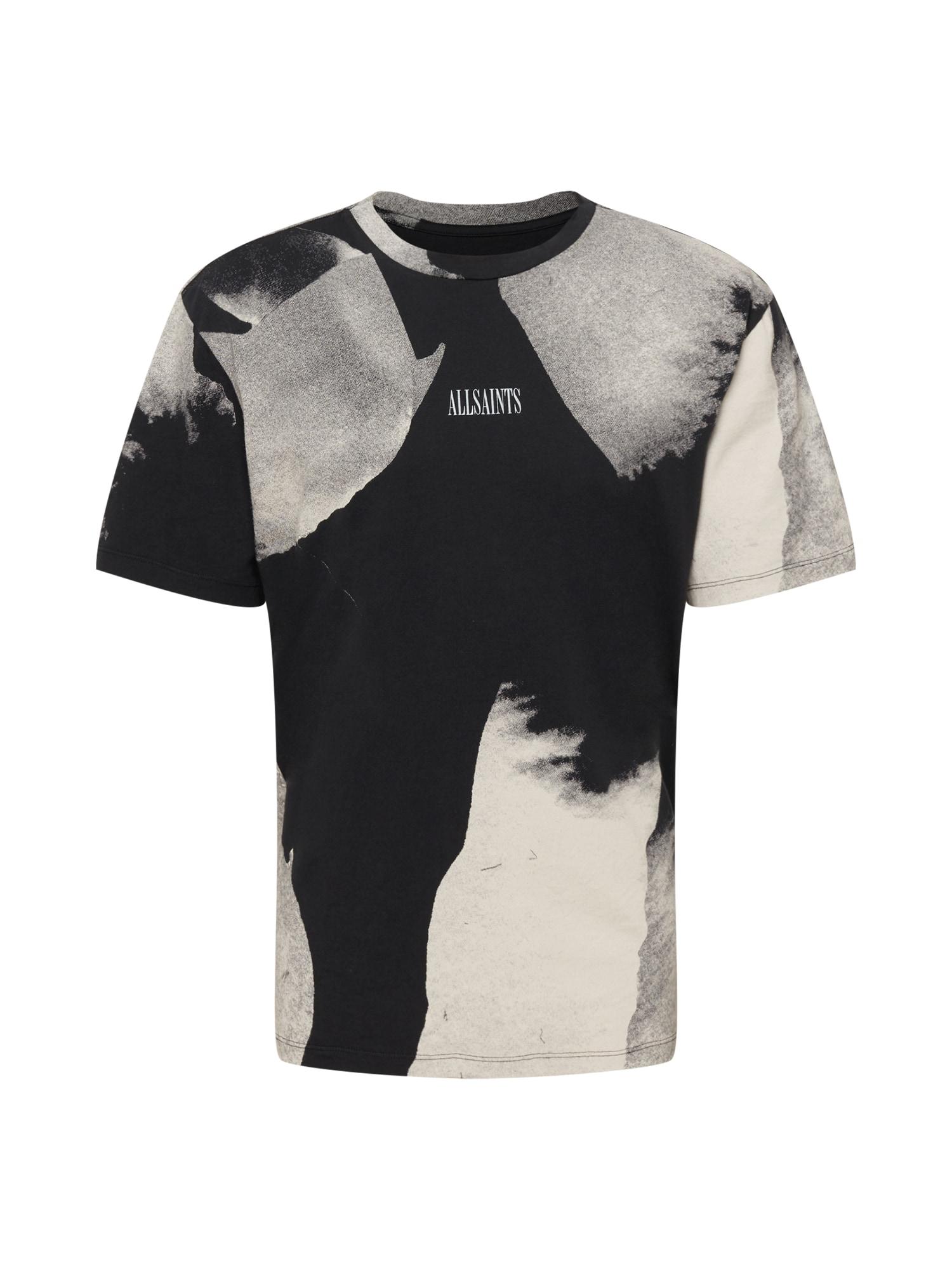 AllSaints Tričko 'Santana'  čierna / béžová