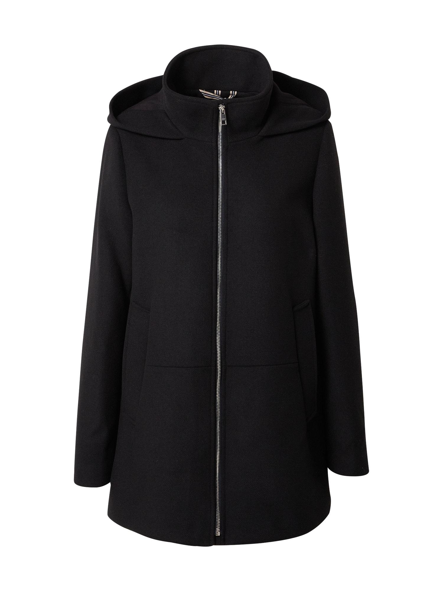 ESPRIT Demisezoninis paltas juoda