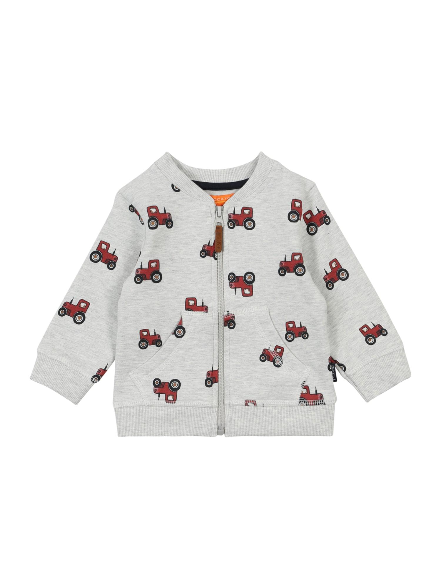 STACCATO Džemperis šviesiai pilka / raudona / juoda