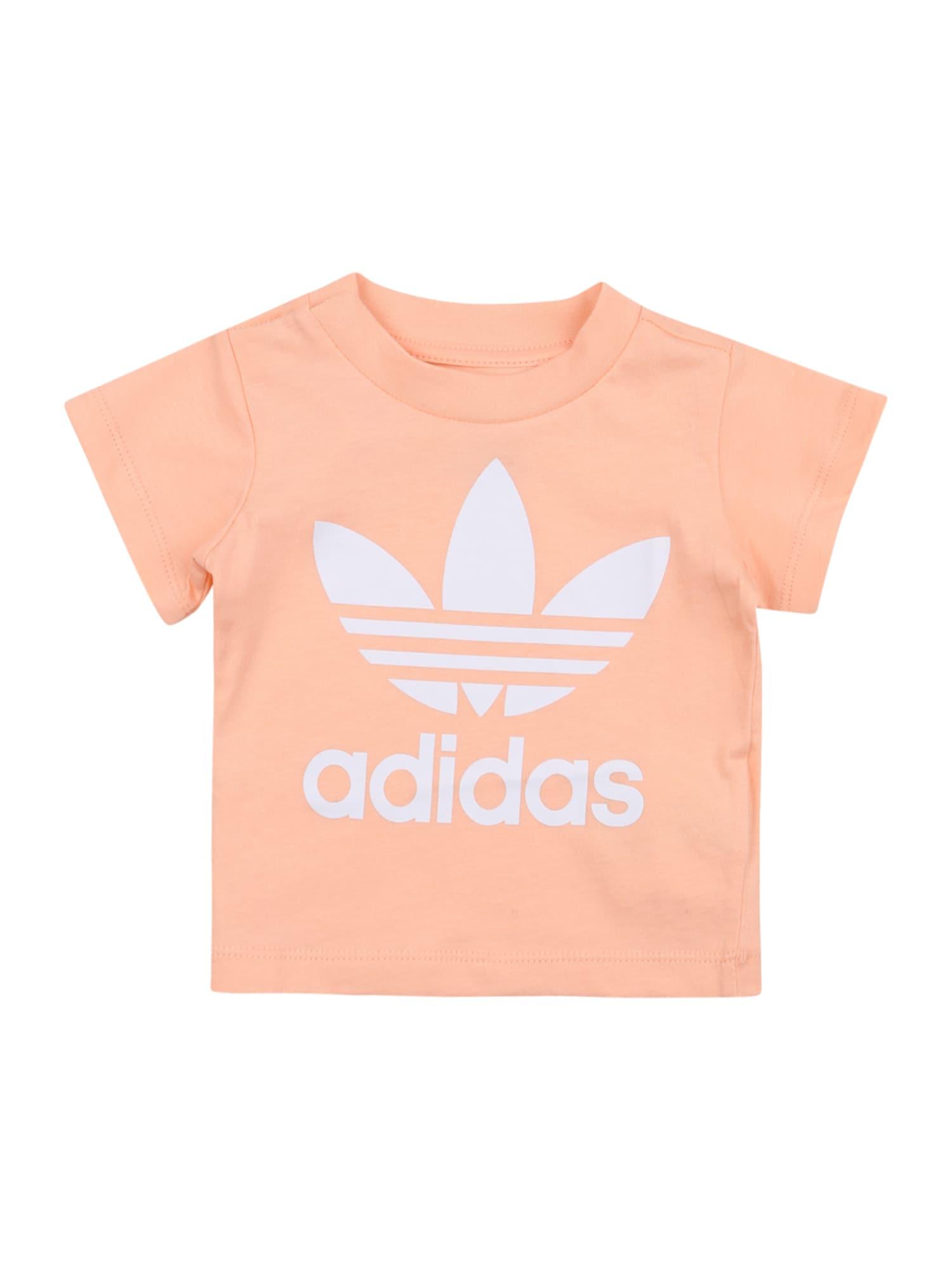 ADIDAS ORIGINALS Marškinėliai balta / abrikosų spalva