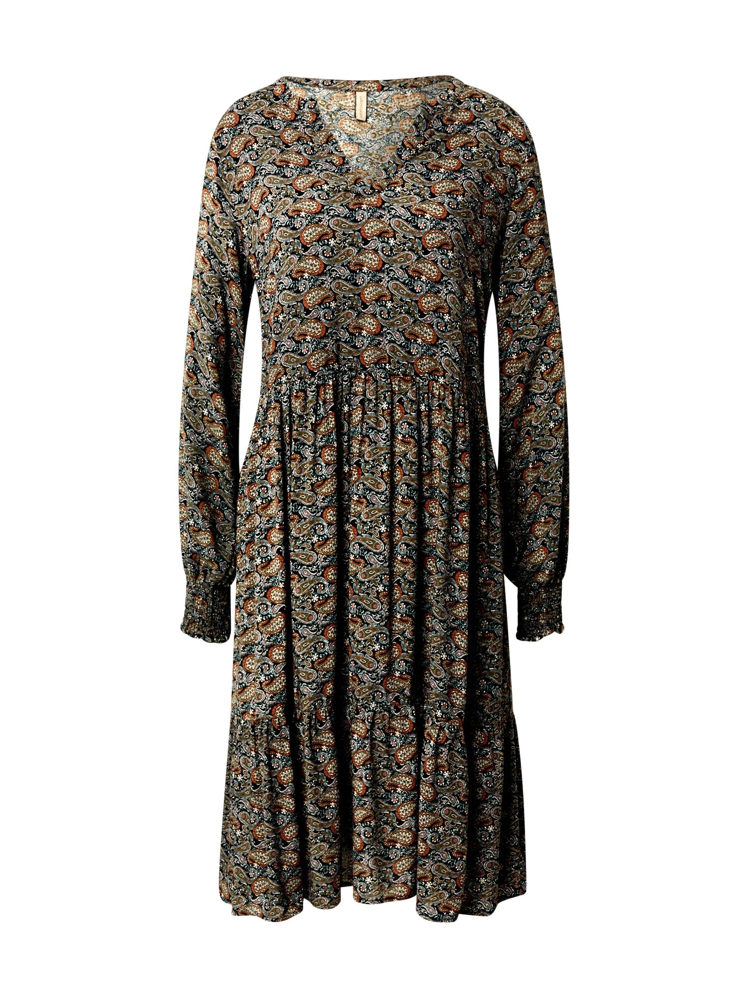 Soyaconcept Košilové šaty 'TIRA 3'  černá / mix barev