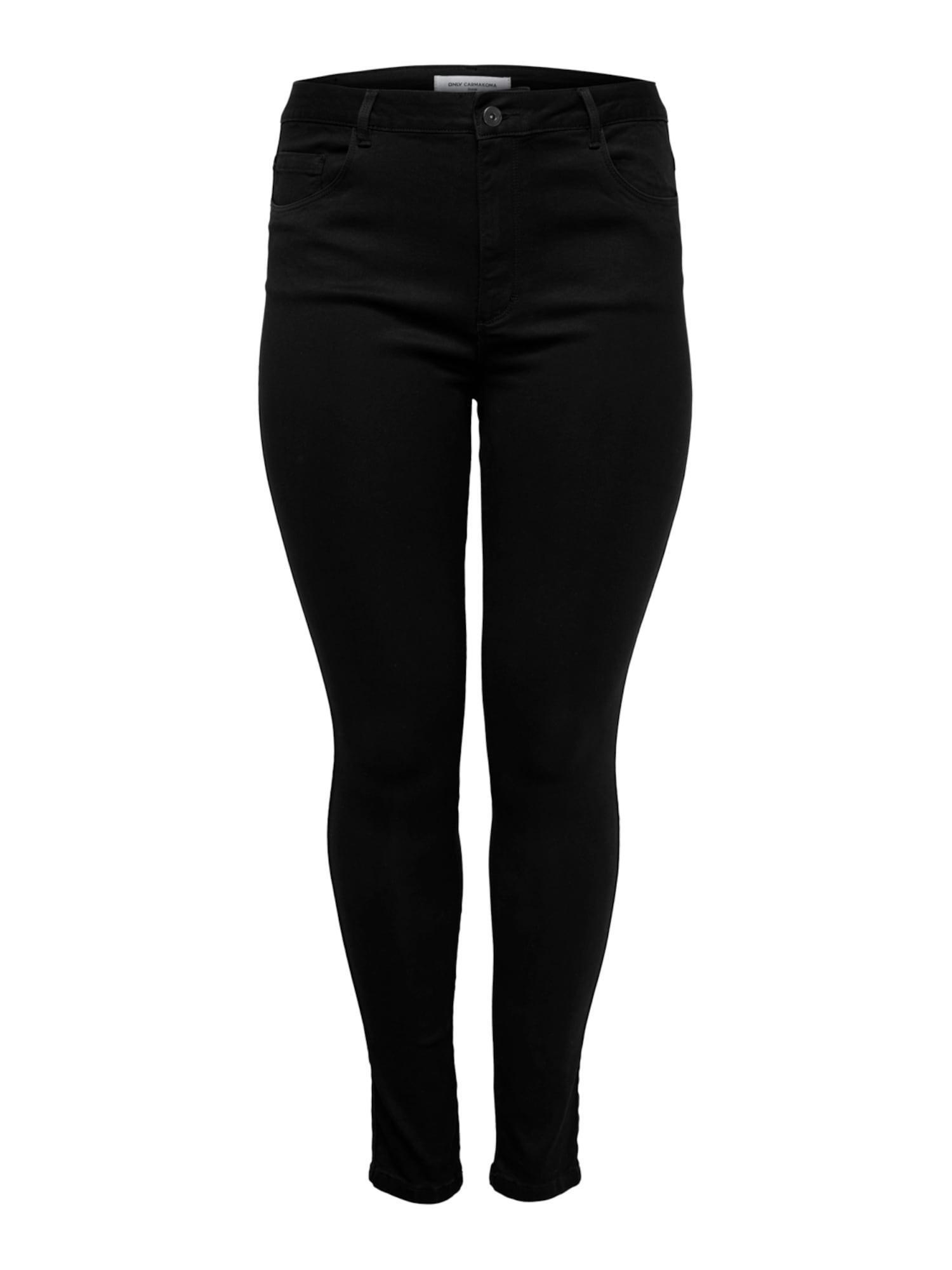 ONLY Carmakoma Džinsai juodo džinso spalva