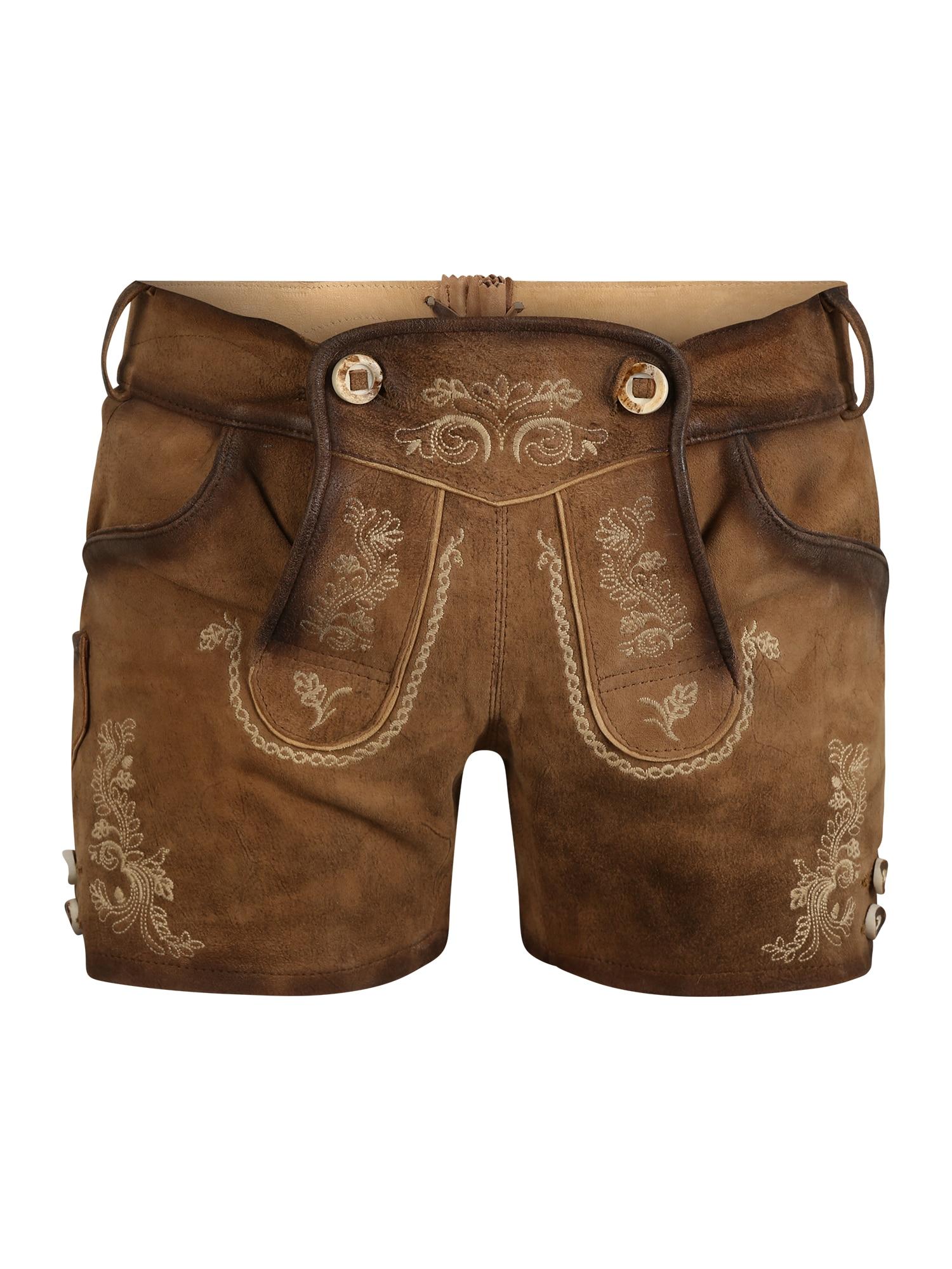 MARJO Krojové kalhoty  světle hnědá / béžová