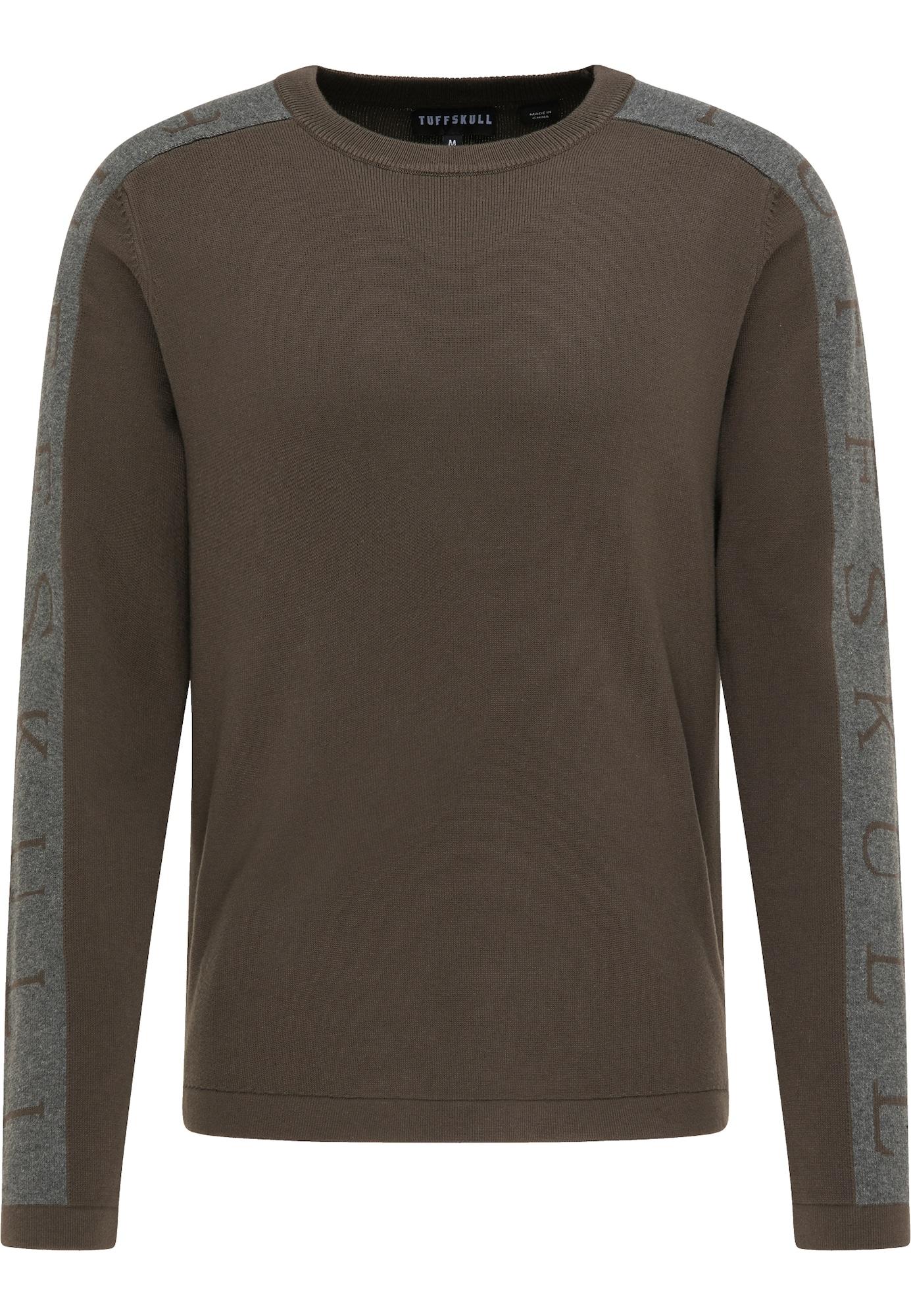 TUFFSKULL Megztinis margai pilka / rusvai žalia
