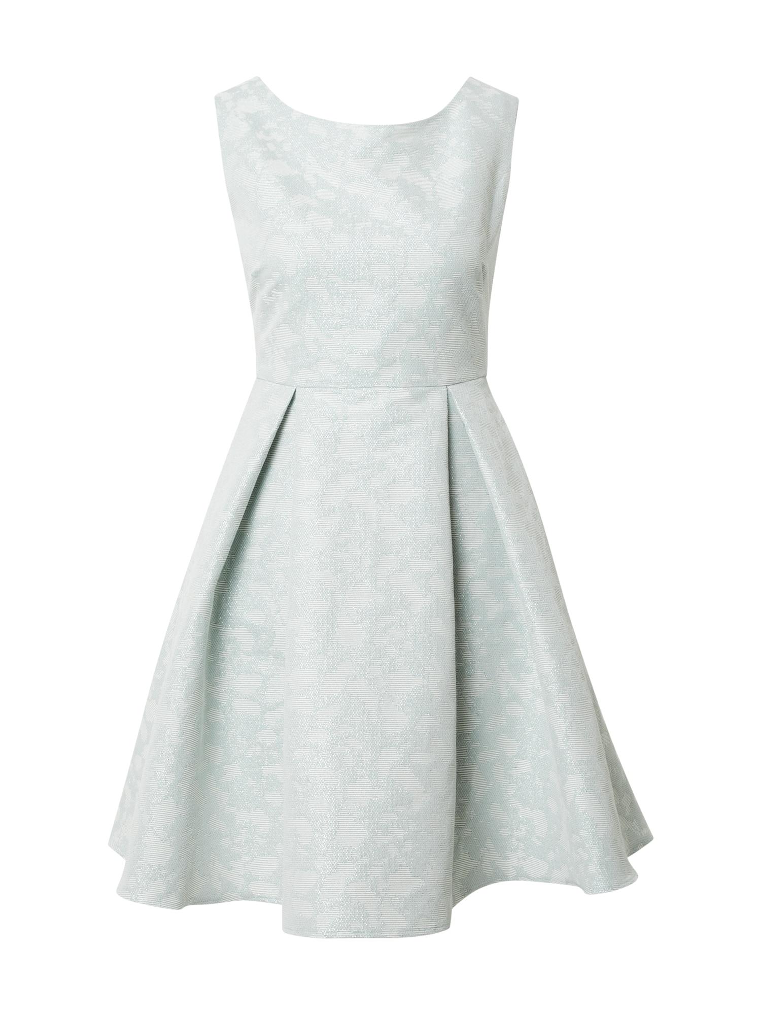 SWING Kokteilinė suknelė pastelinė žalia / smėlio spalva