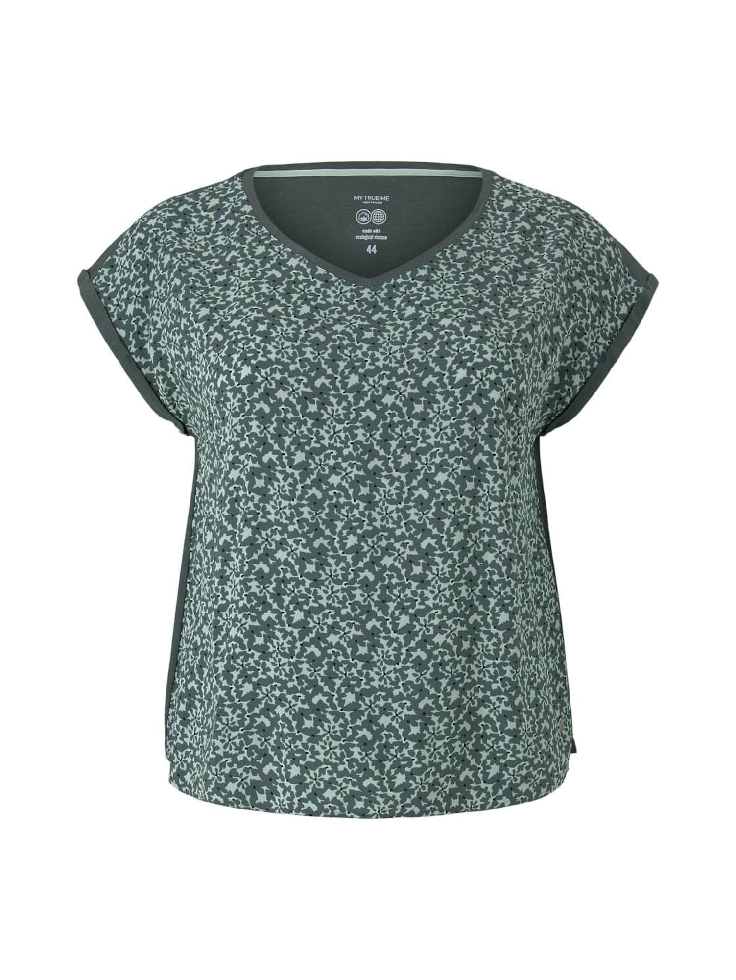 MY TRUE ME Marškinėliai pastelinė žalia / smaragdinė spalva