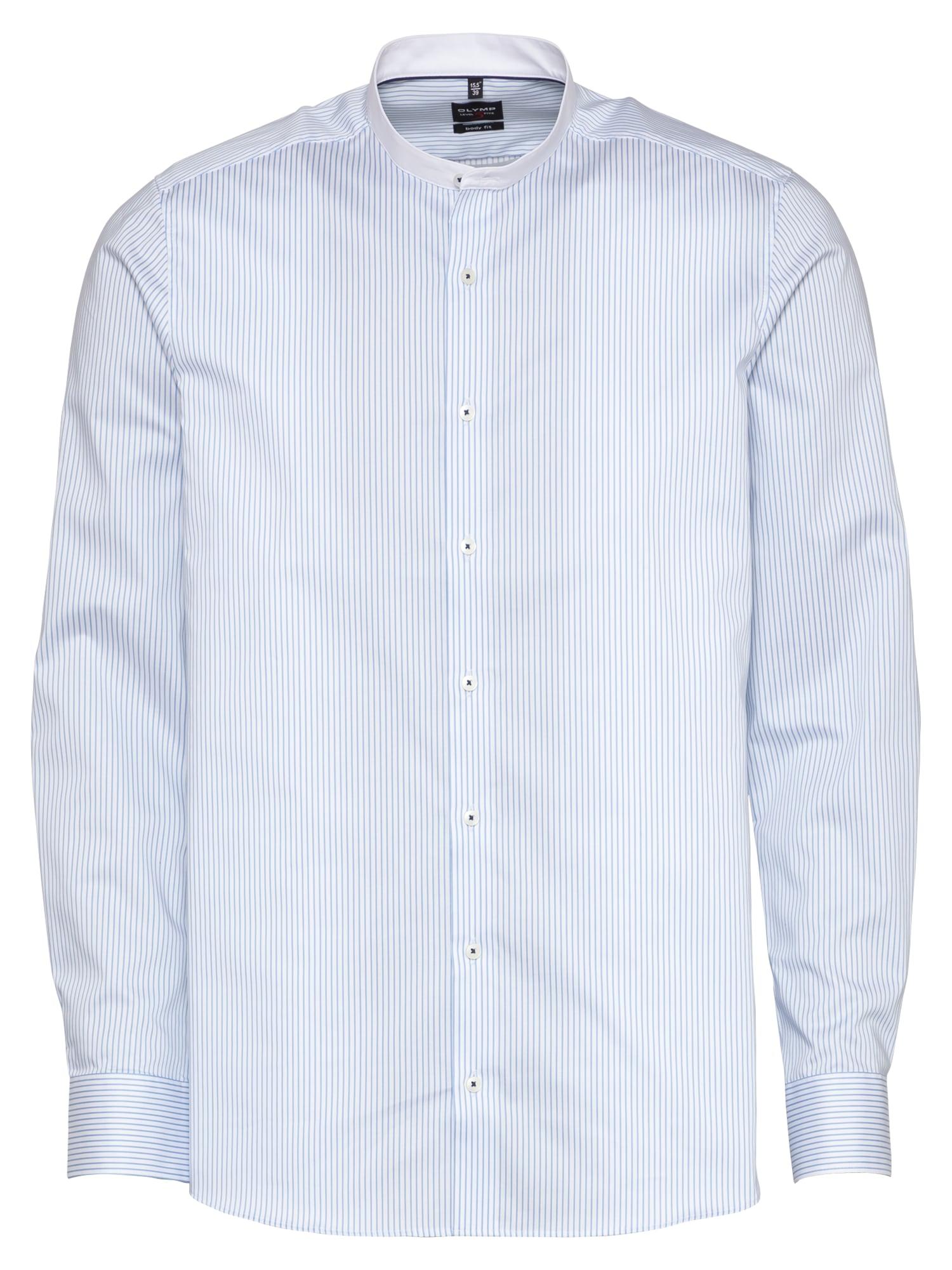 OLYMP Marškiniai šviesiai mėlyna / balta