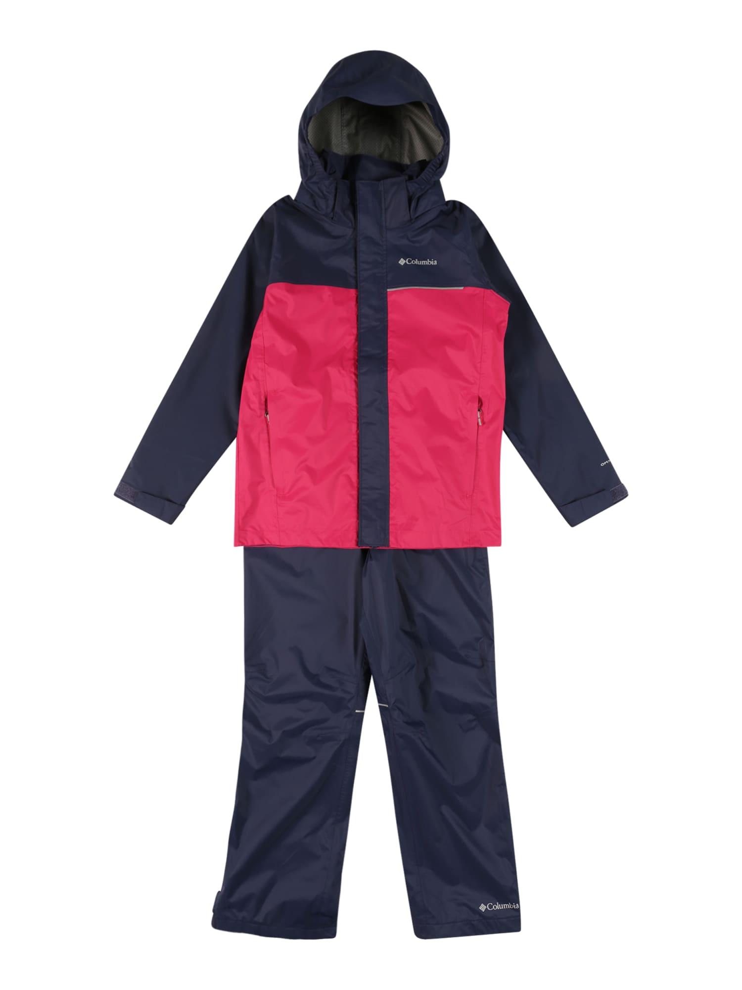 COLUMBIA Funkcinis kostiumas pitajų spalva / tamsiai mėlyna / sidabrinė