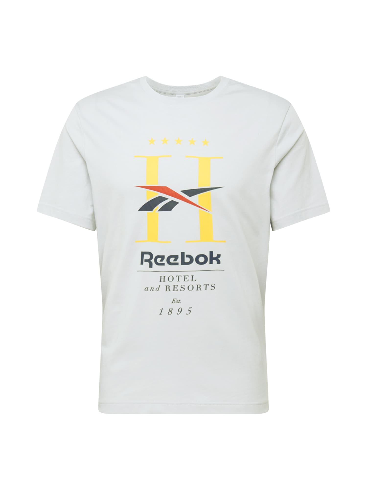 Reebok Classic Marškinėliai šviesiai pilka / geltona / pastelinė raudona / nakties mėlyna / juoda