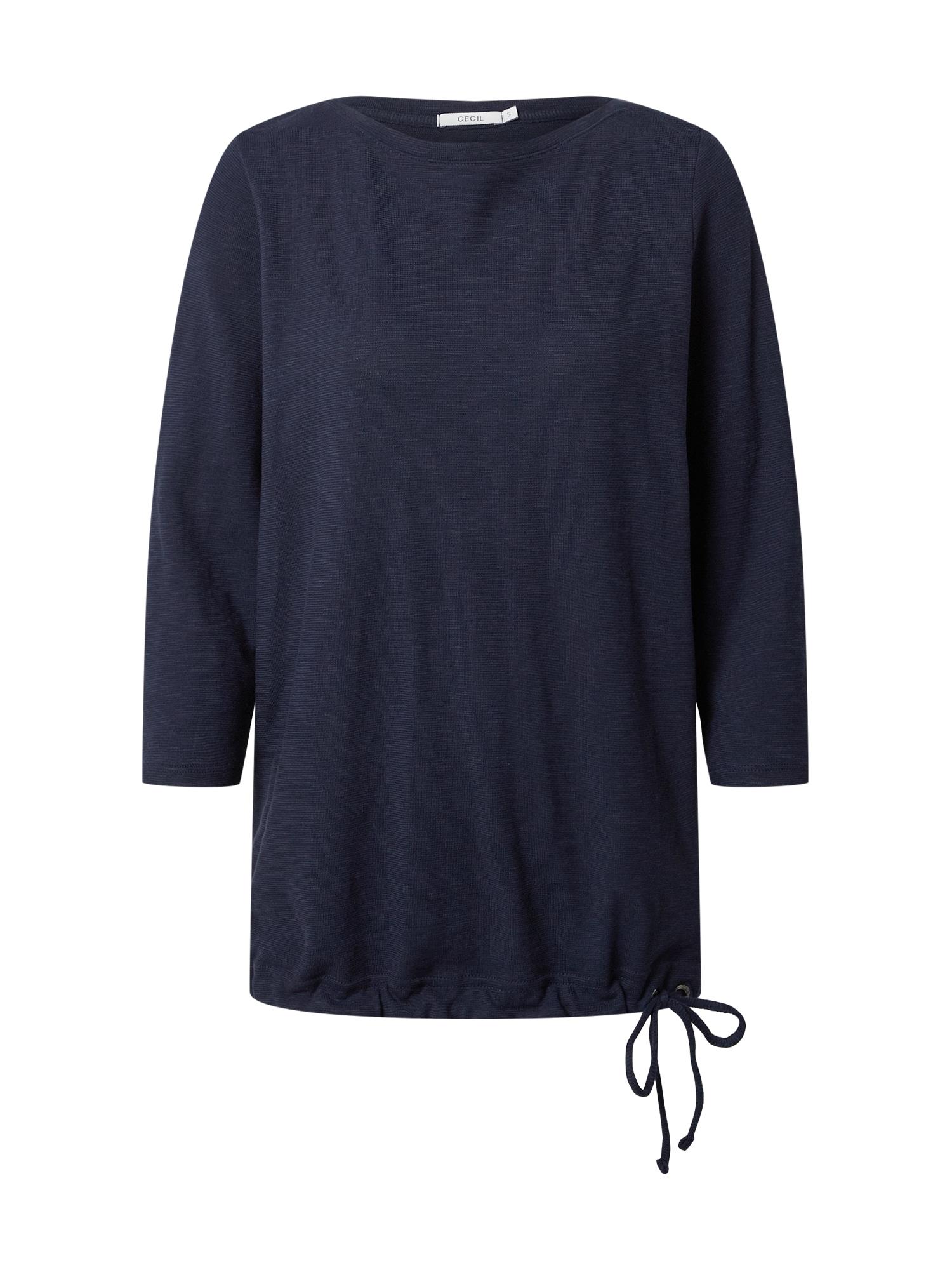 CECIL Marškinėliai tamsiai mėlyna