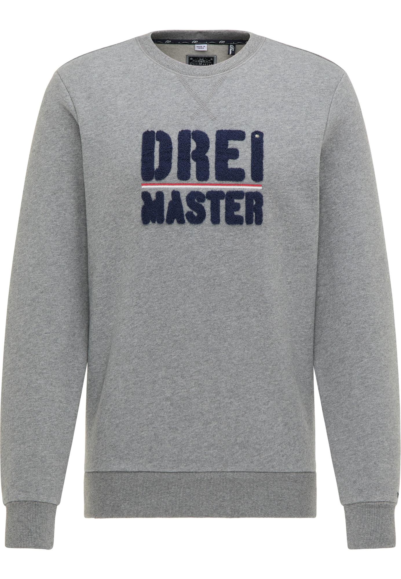 DreiMaster Maritim Megztinis be užsegimo pilka / tamsiai mėlyna