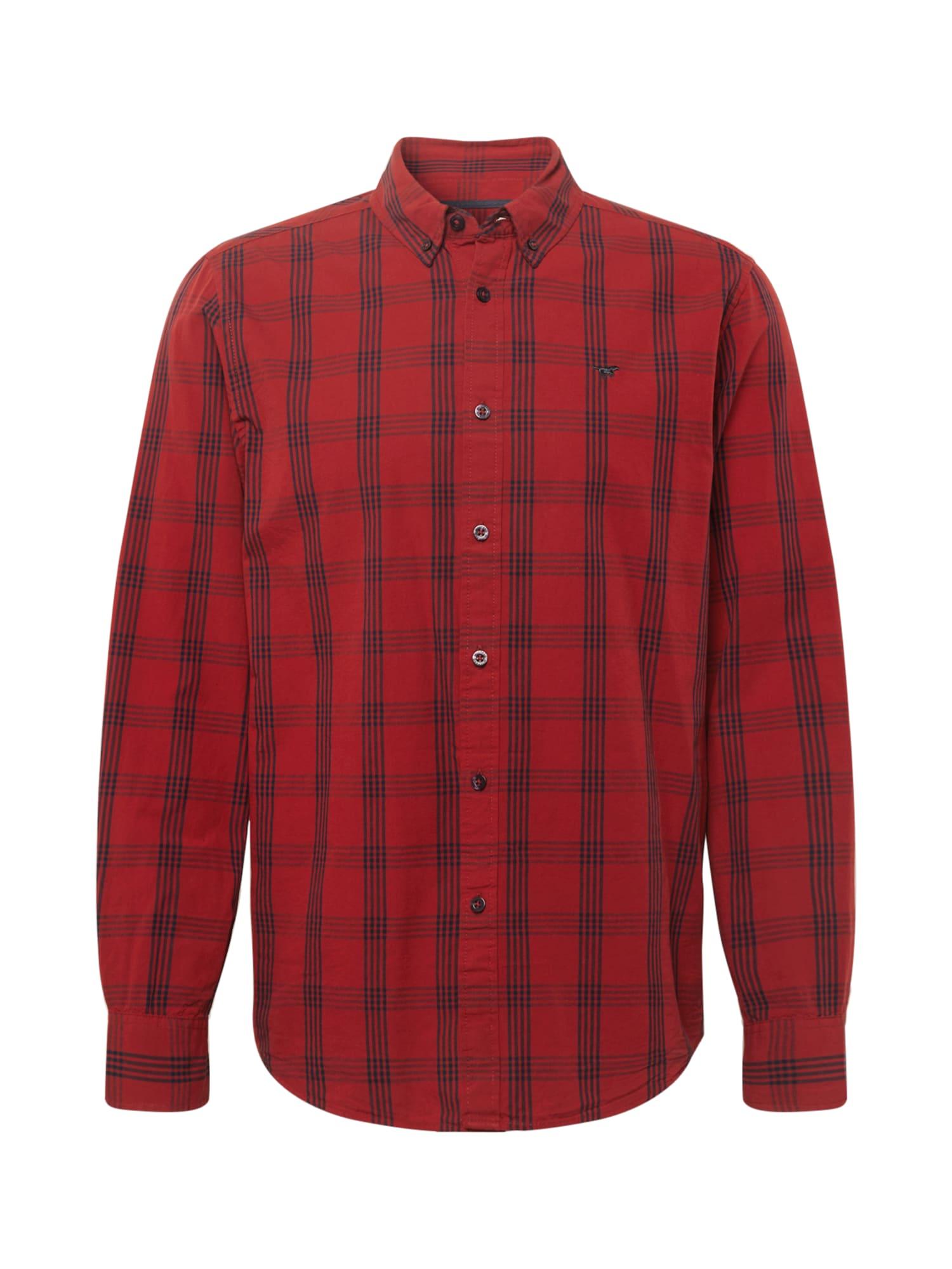 MUSTANG Košile 'Clemens'  červená / tmavě modrá