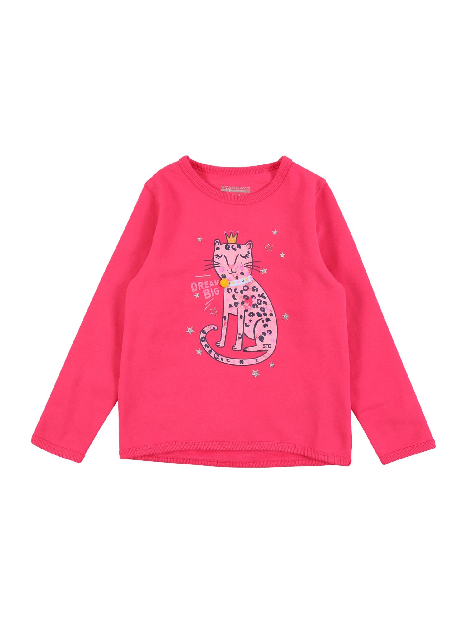 STACCATO Megztinis be užsegimo rožinė / pastelinė rožinė / aukso geltonumo spalva / sidabrinė / tamsiai mėlyna