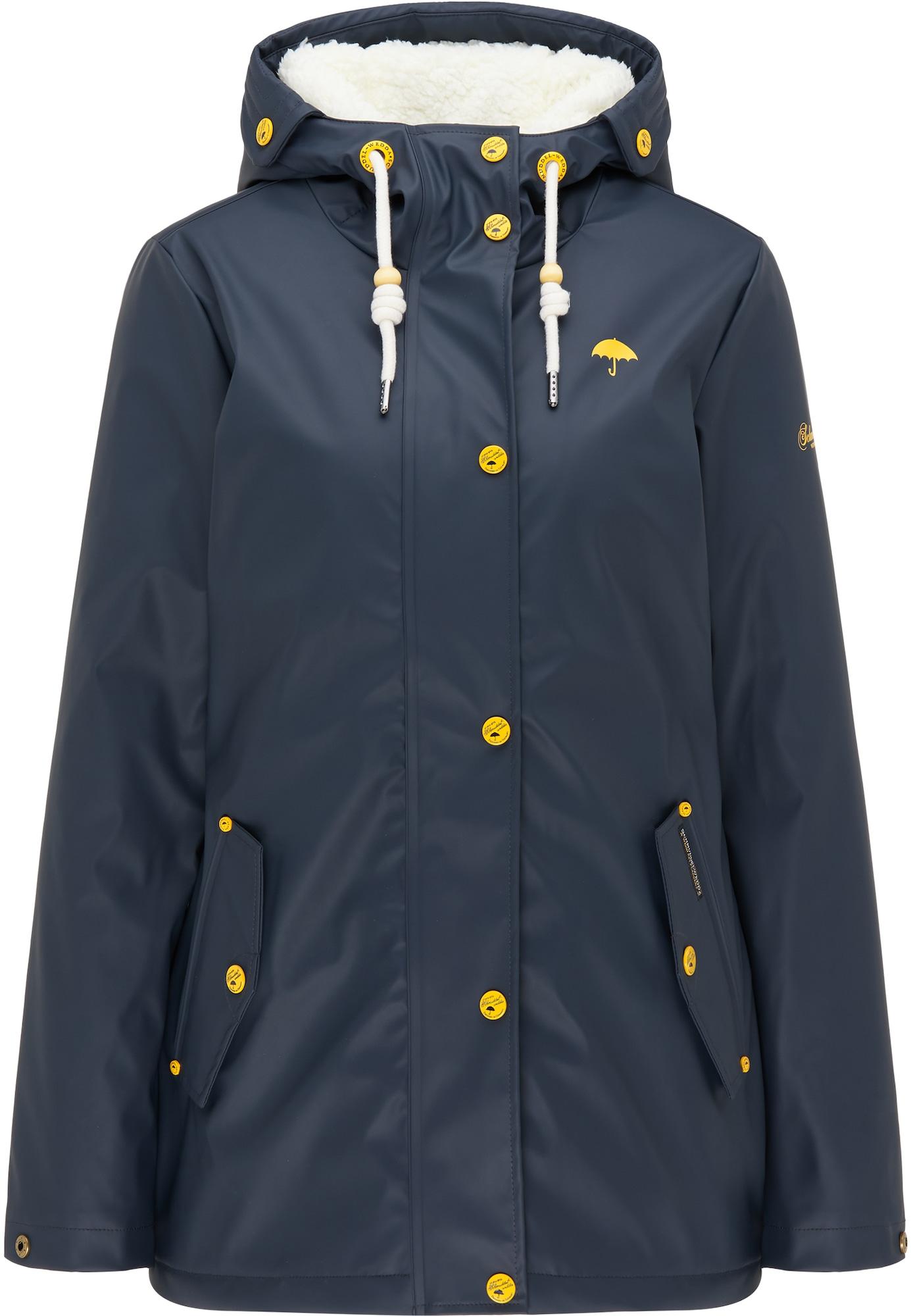 Schmuddelwedda Demisezoninė striukė kobalto mėlyna / geltona