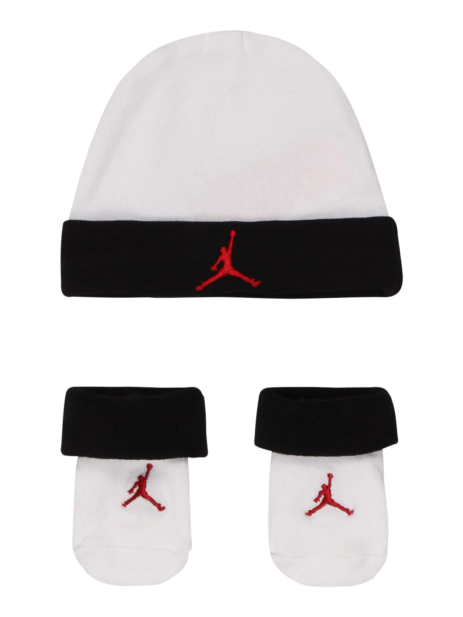 Jordan Megzta kepurė balta / juoda / kraujo spalva