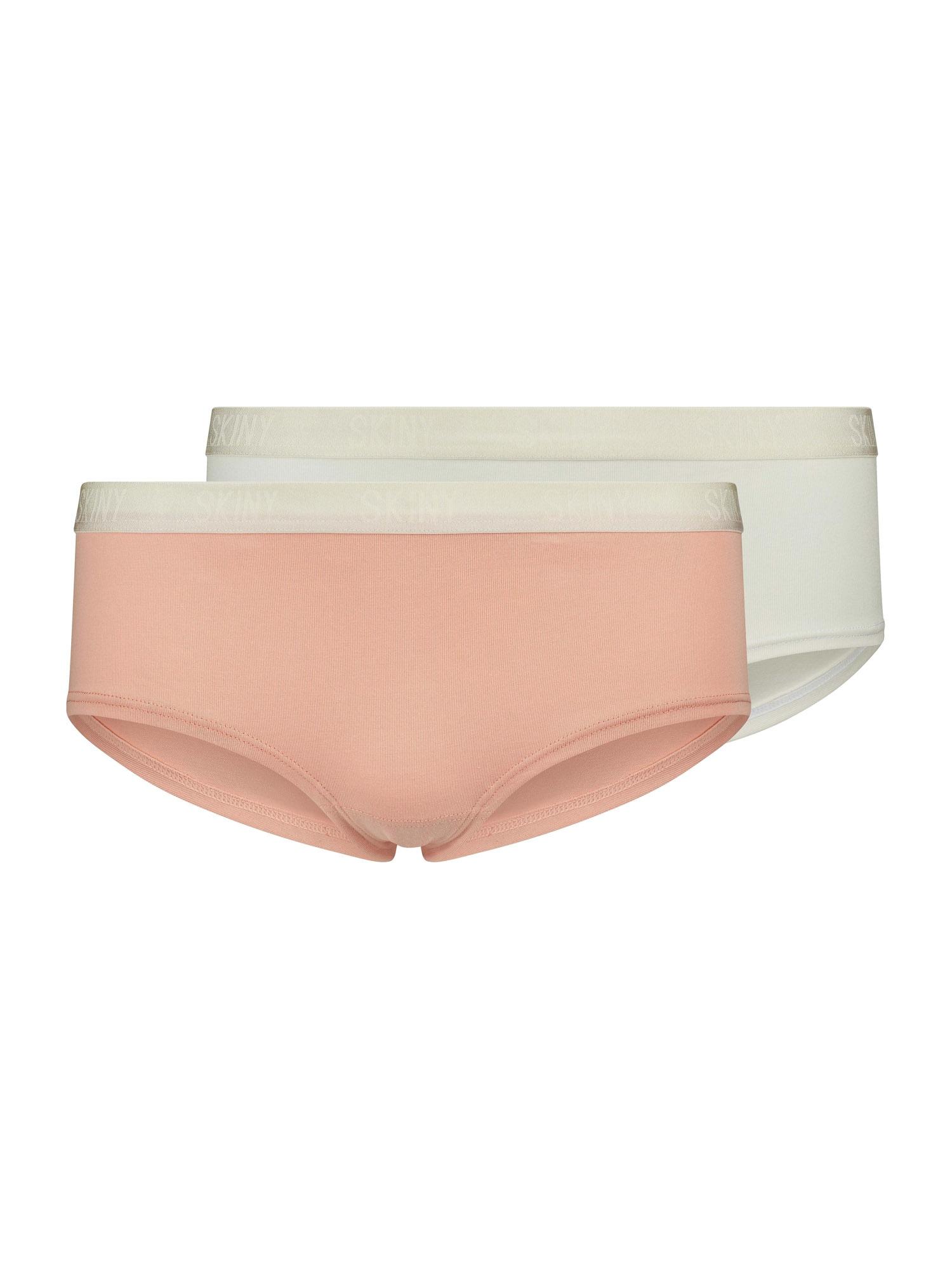 Skiny Apatinės kelnaitės balta / ryškiai rožinė spalva