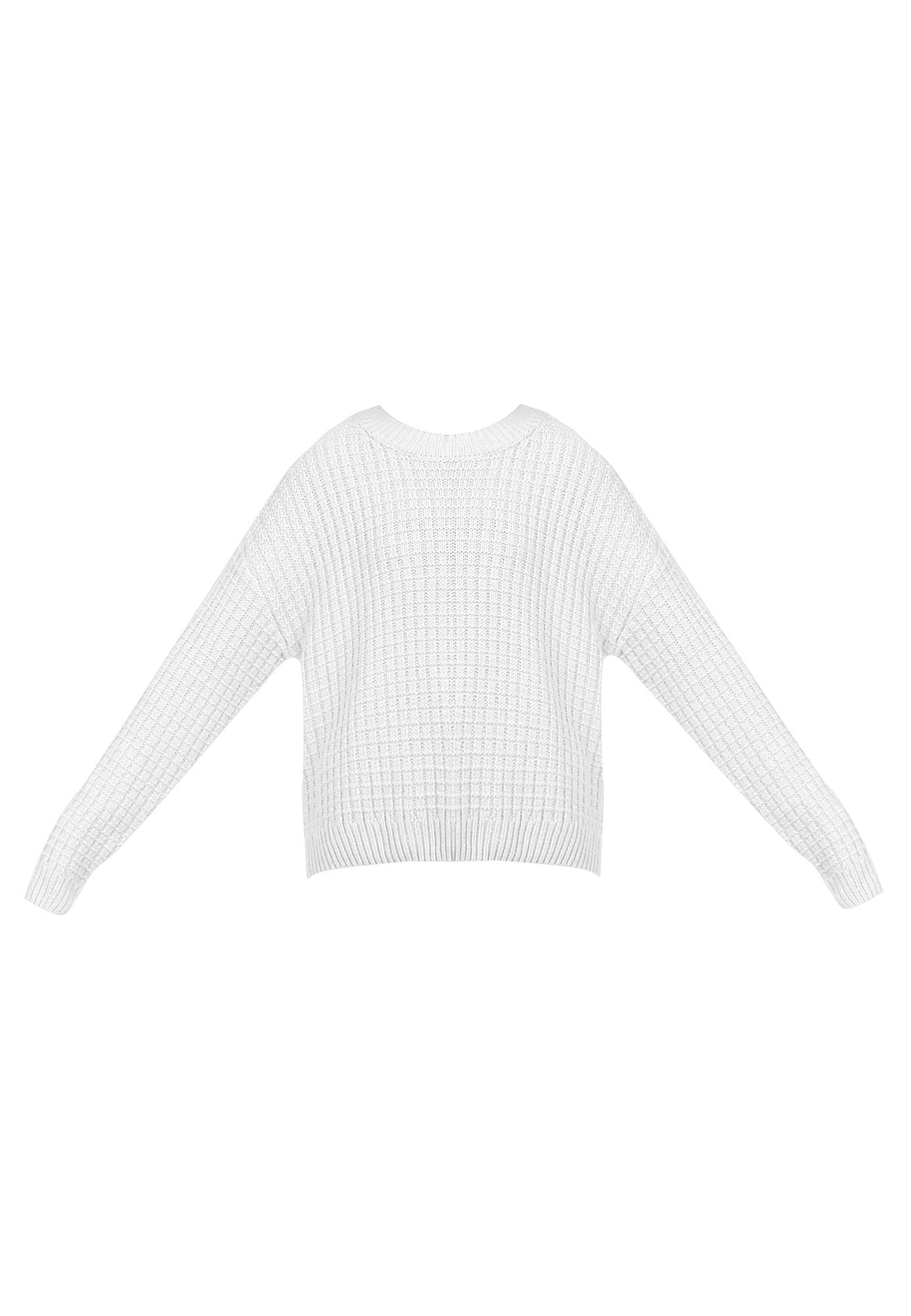 myMo NOW Megztinis vilnos balta