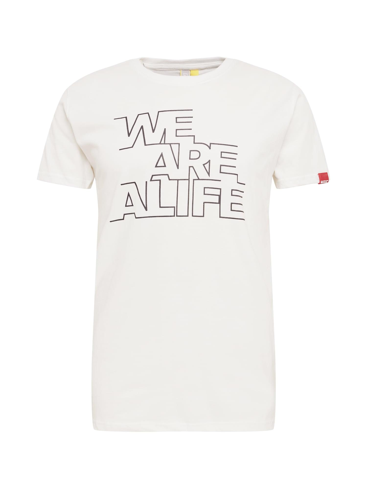 Alife and Kickin Marškinėliai pilka / balta