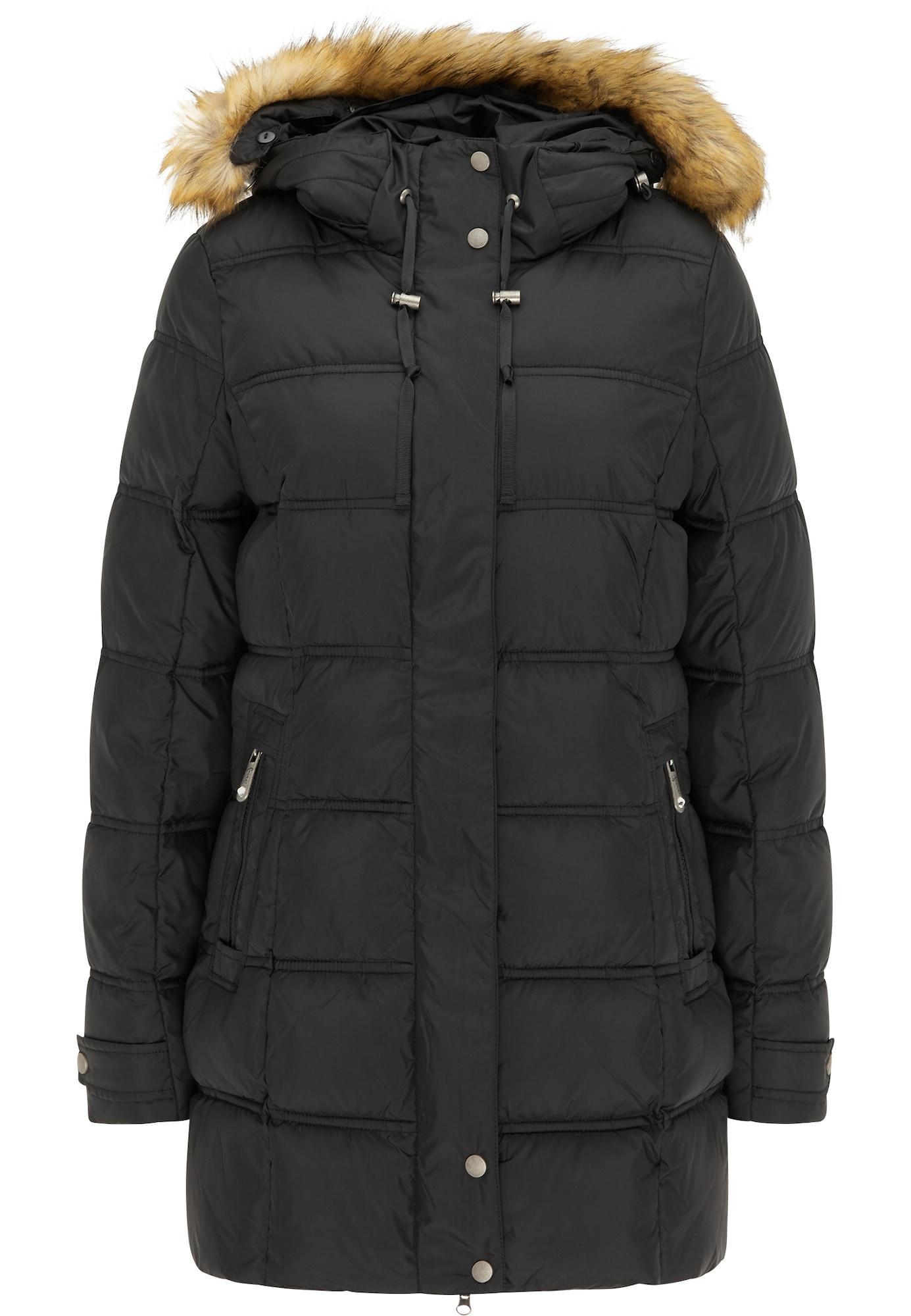 faina Žieminis paltas juoda