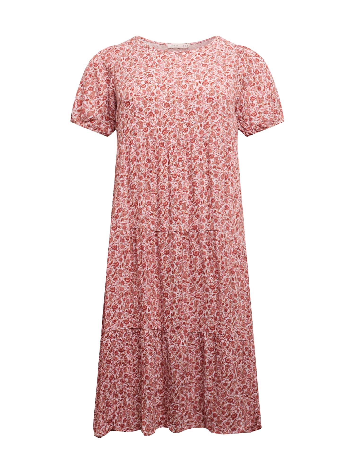 Cotton On Curve Suknelė rožių spalva / raudona / balta